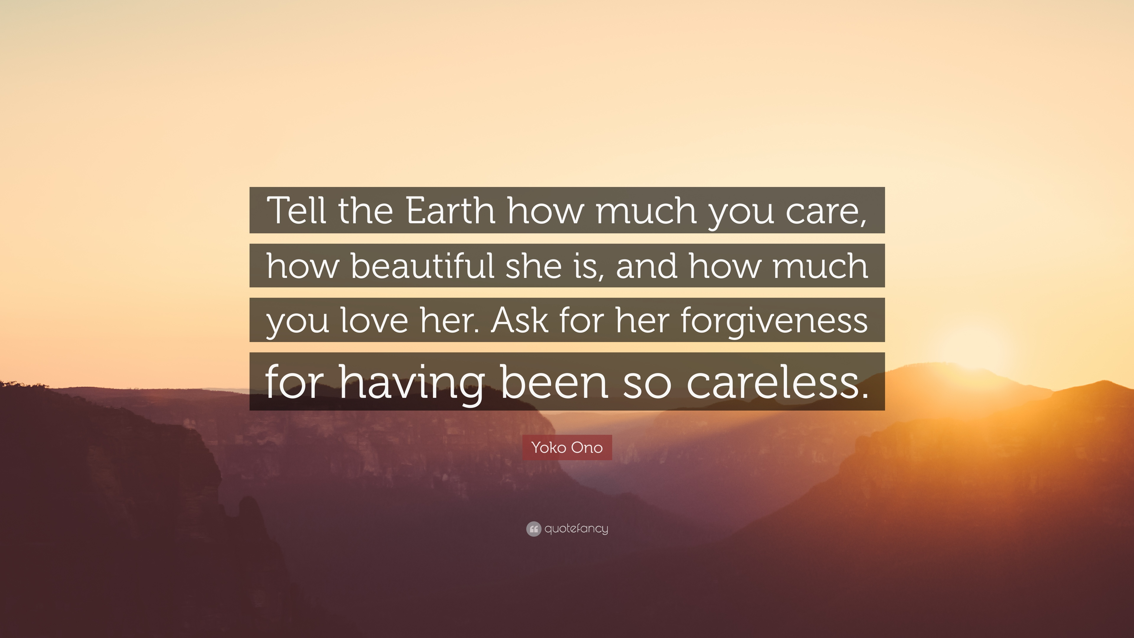 I am sorry message for her promise never do it again Source · Yoko o Quote Tell the Earth how much you care how beautiful