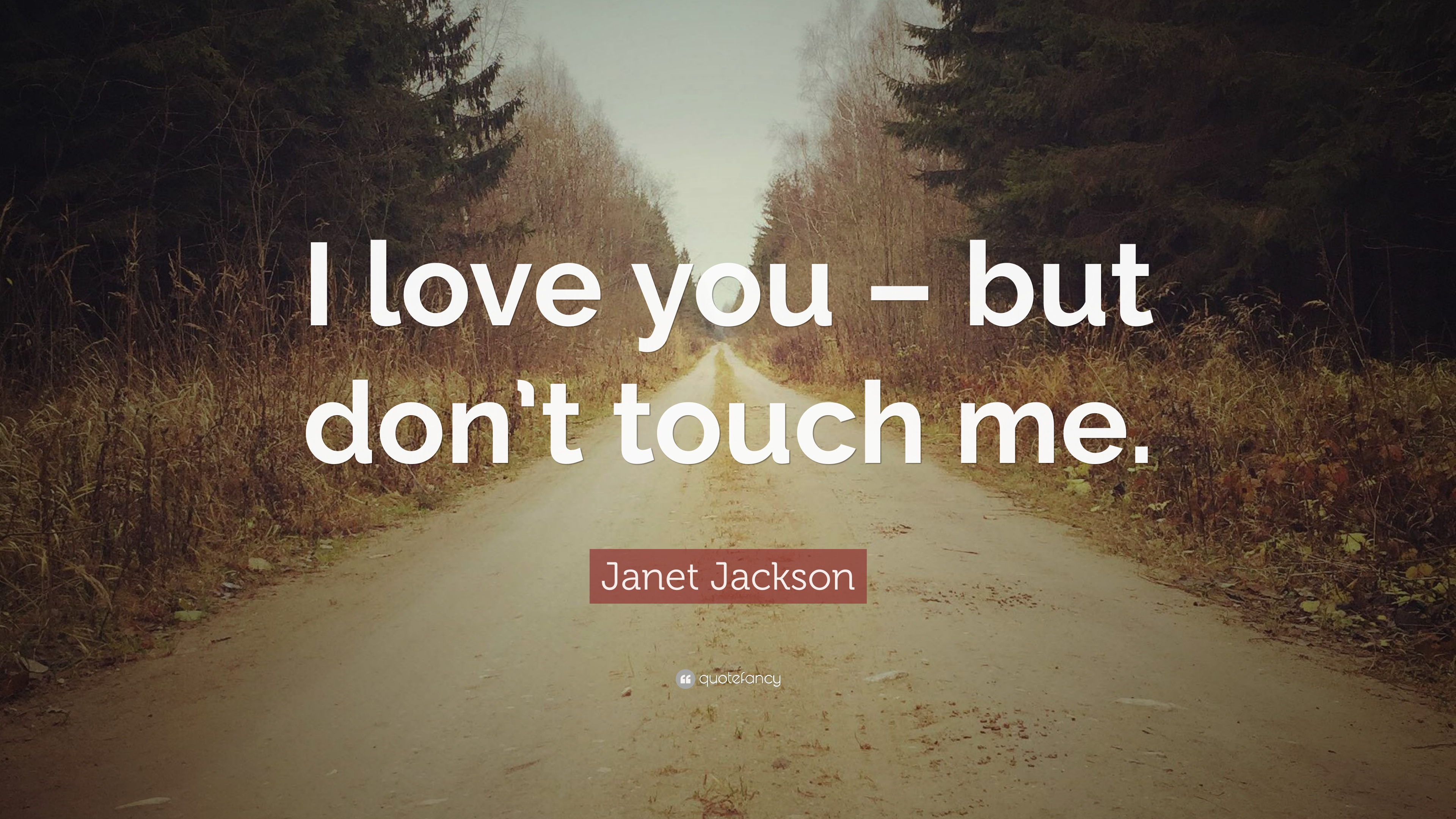 Janet Jackson Quote I Love You But Dont Touch Me 7