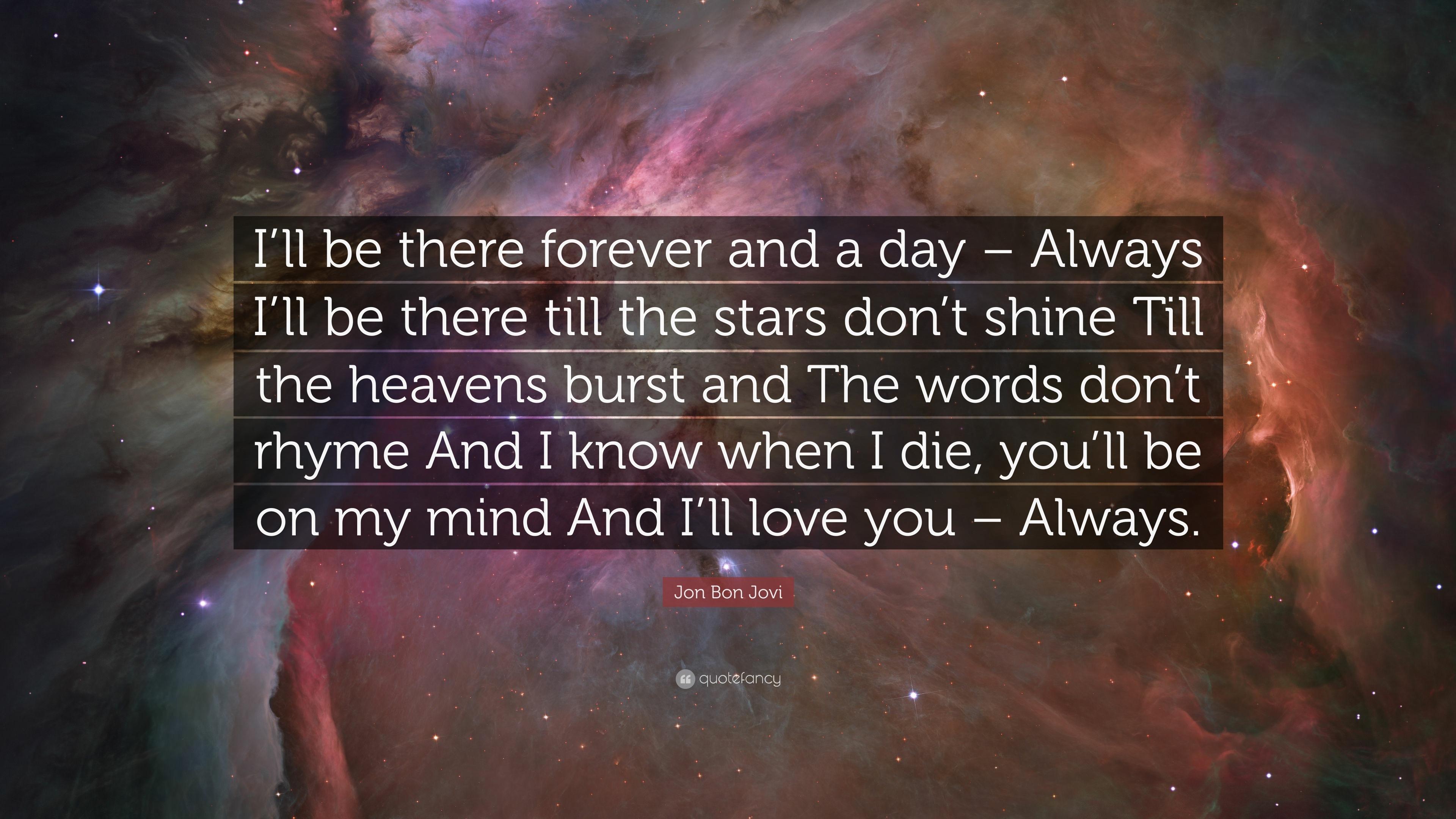 Bon jovi always love you