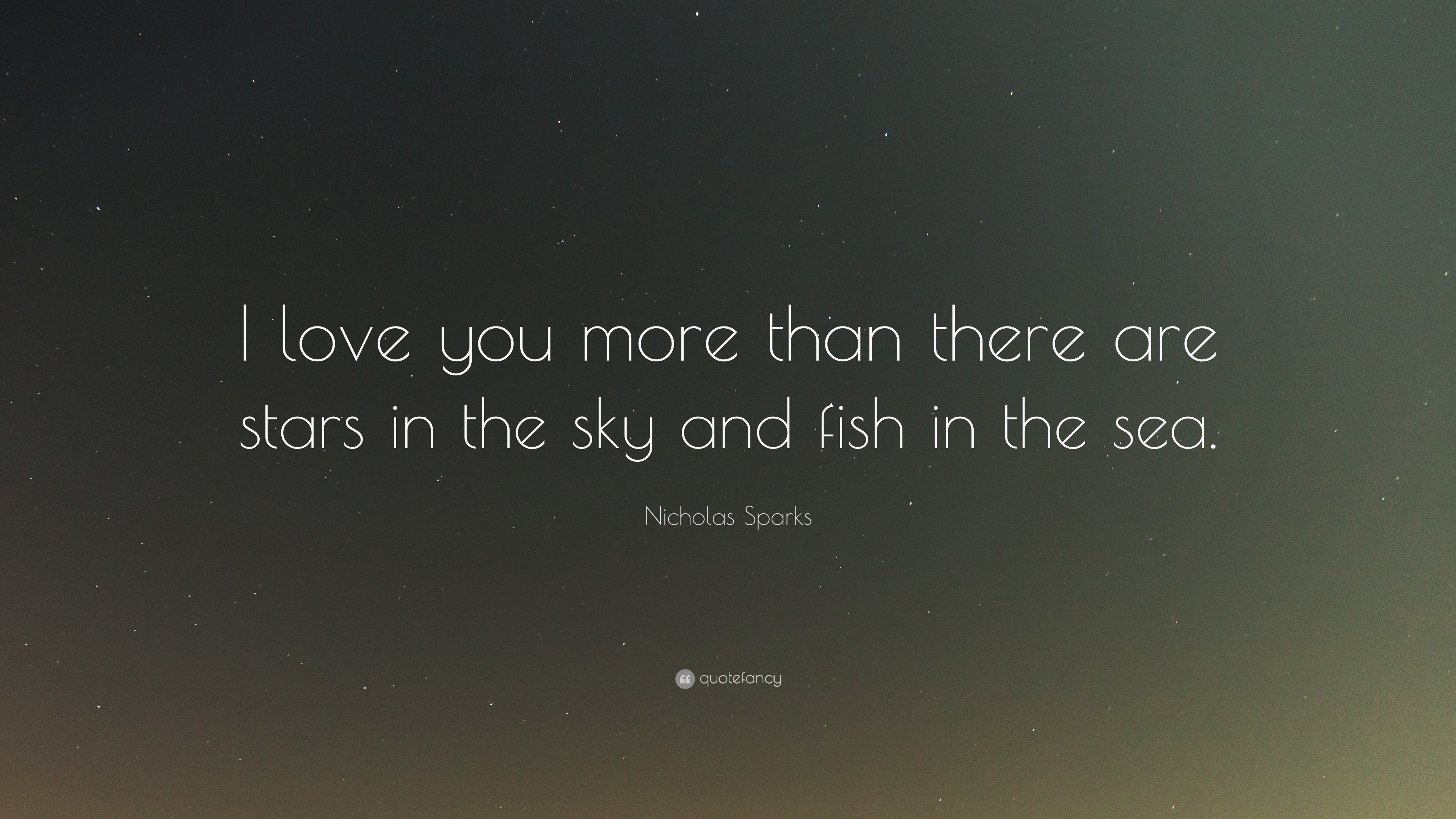 I Love You More Than Life Quotes Tumblr : Nicholas Sparks Quote: ?I love you more than there are stars in the ...
