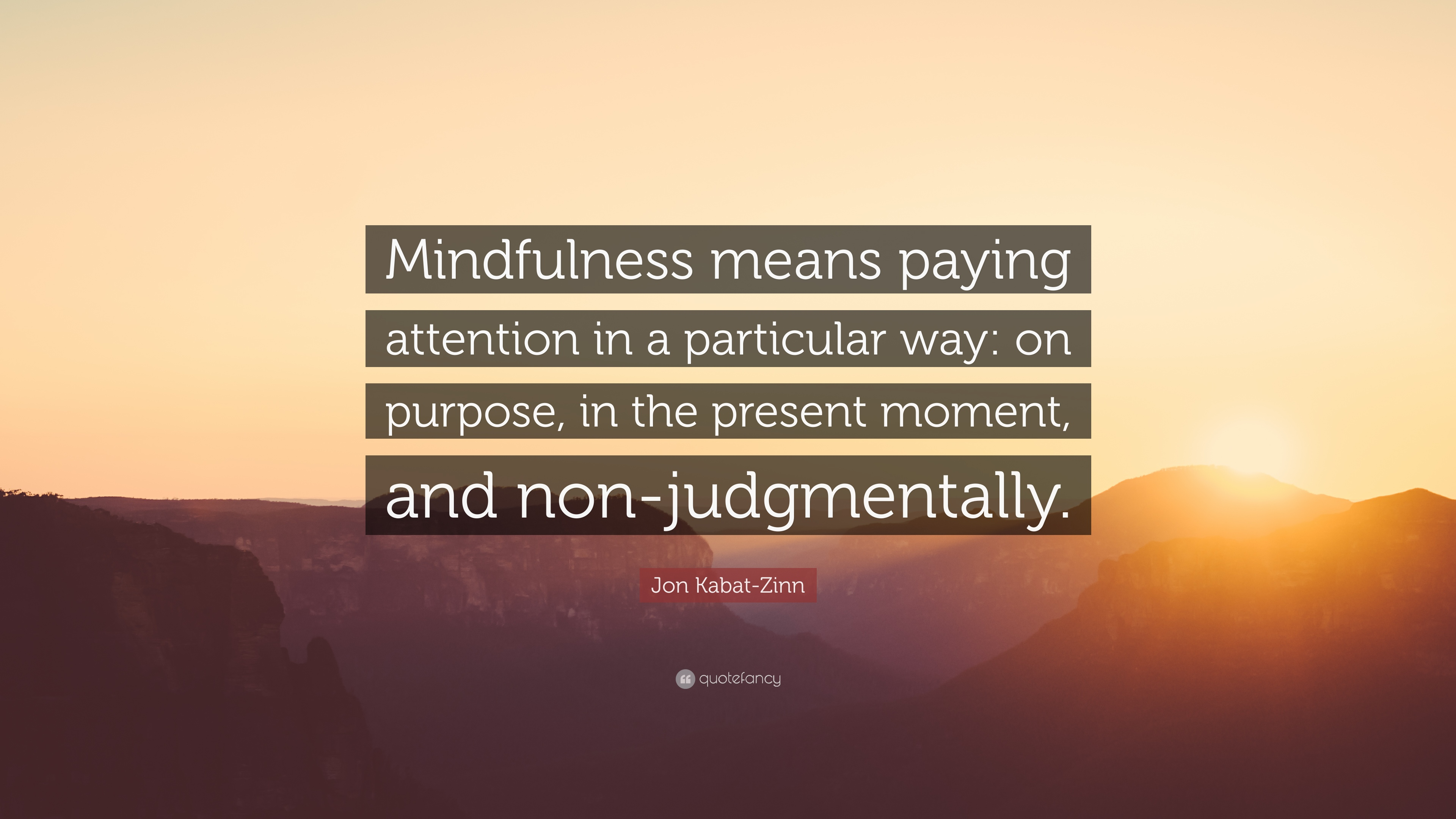 """Quotes About Mindfulness Jon Kabatzinn Quote """"Mindfulness Means Paying Attention In A"""