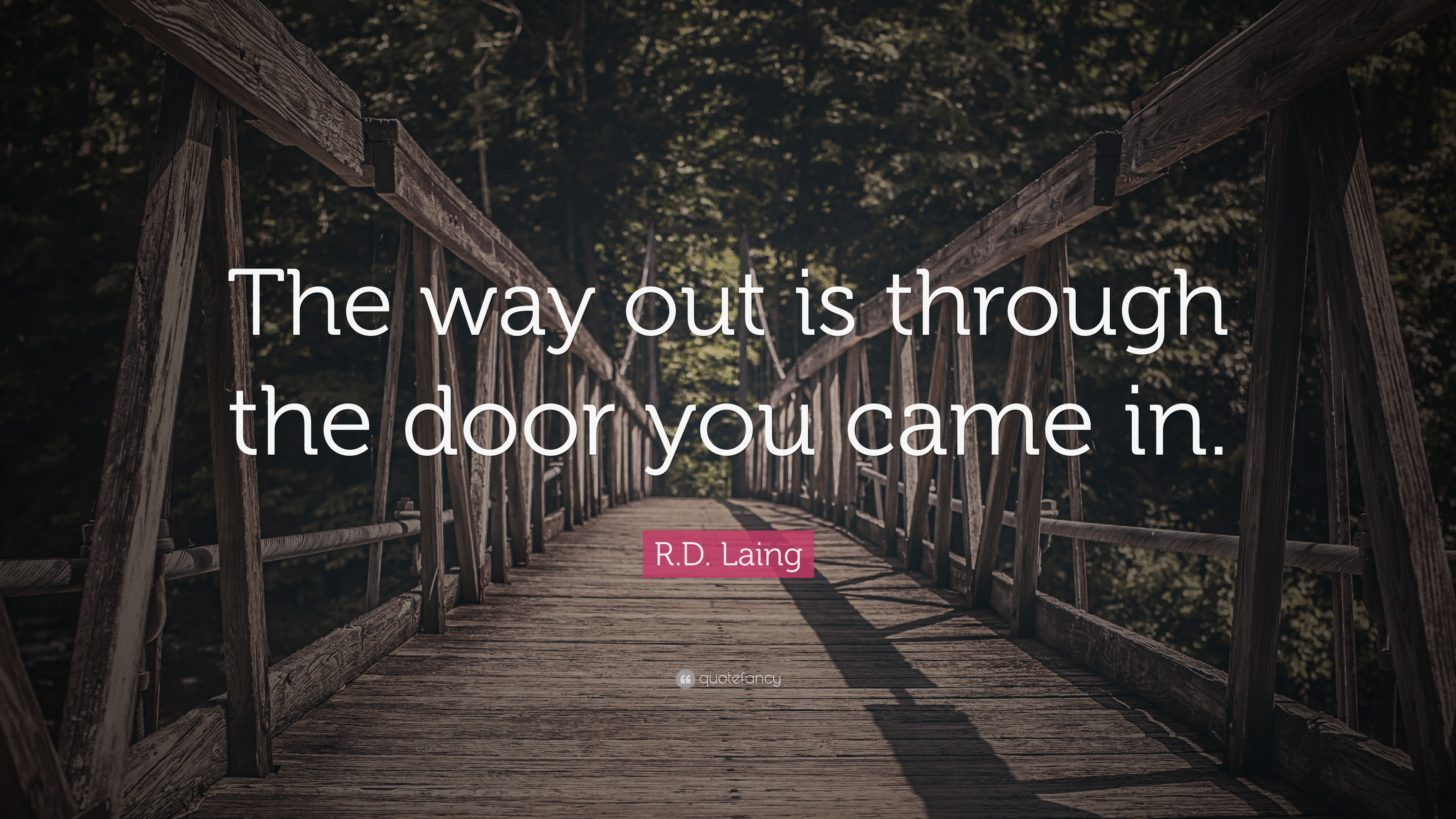Wonderful R.D. Laing Quote: U201cThe Way Out Is Through The Door You Came In.