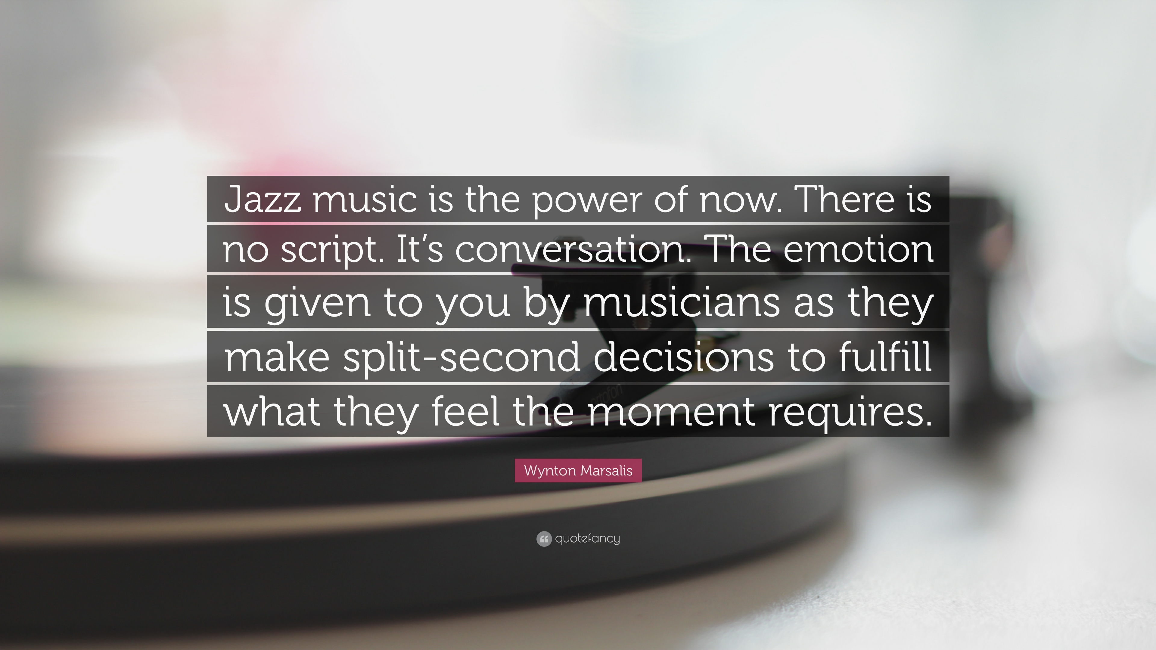"The Power Of Now Quotes Wynton Marsalis Quote ""Jazz Music Is The Power Of Nowthere Is"