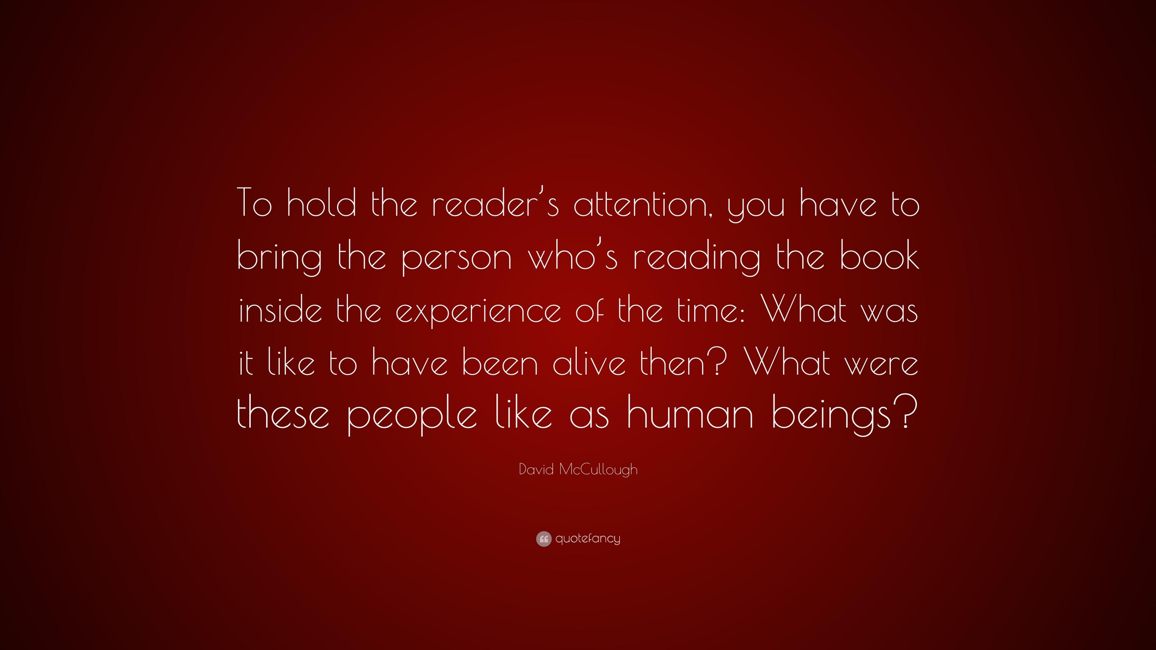attention reader