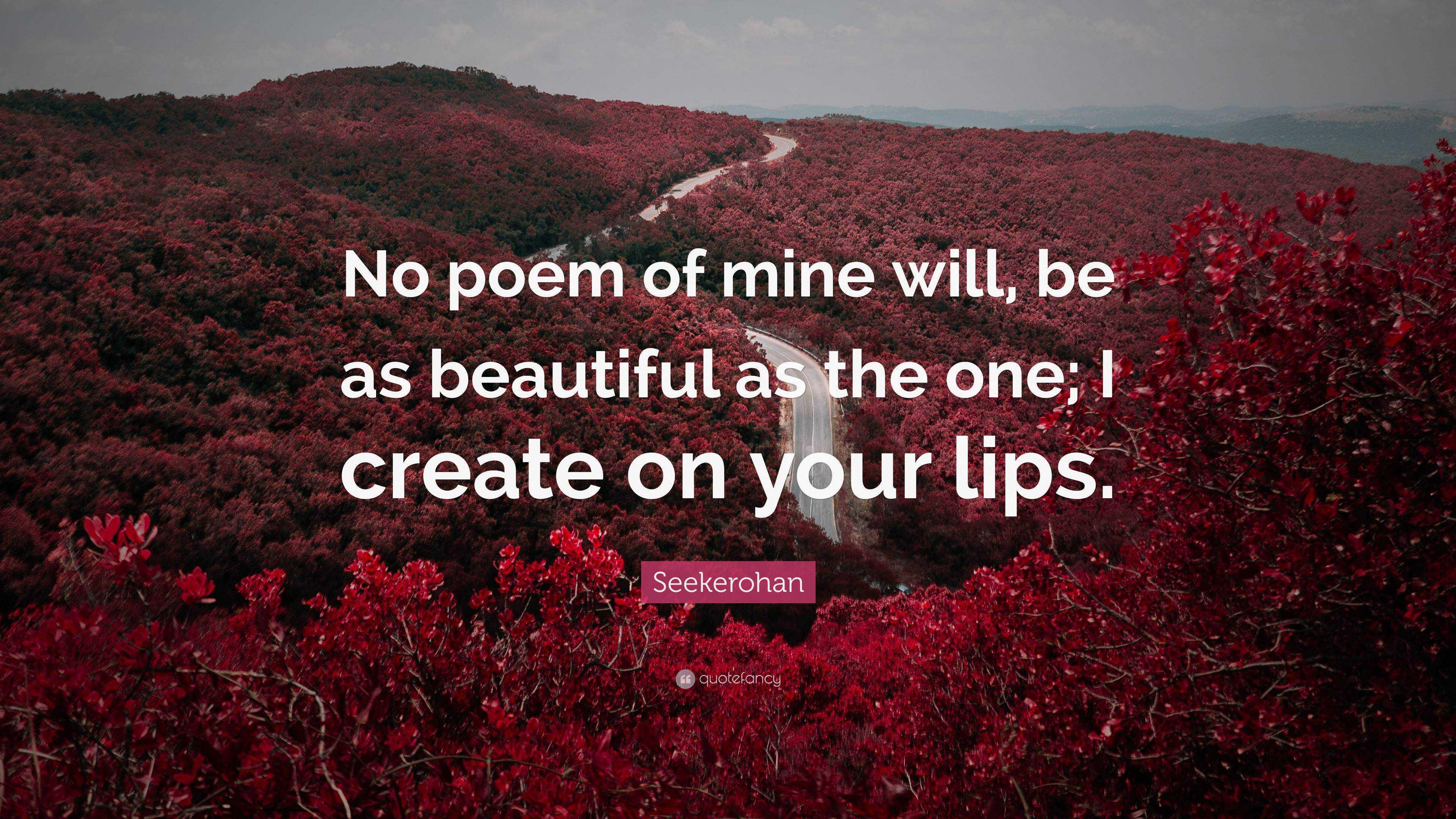 Beautiful poem your lips poem tasting