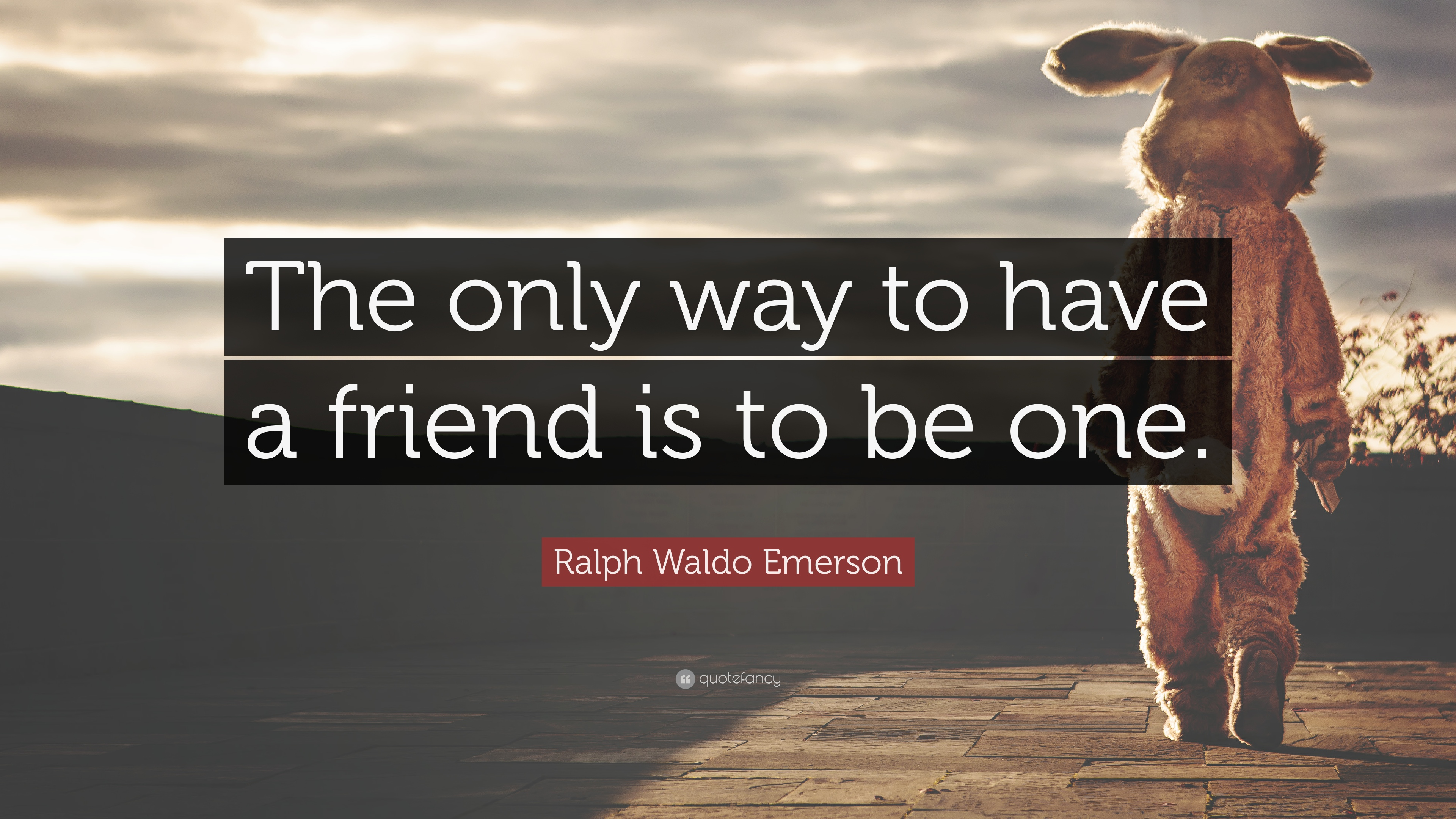ralph waldo emerson essay on friendship The complete text of essays, first series friendship a ruddy drop of manly blood the surging sea outweighs the world uncertain comes and goes, the lover rooted stays.