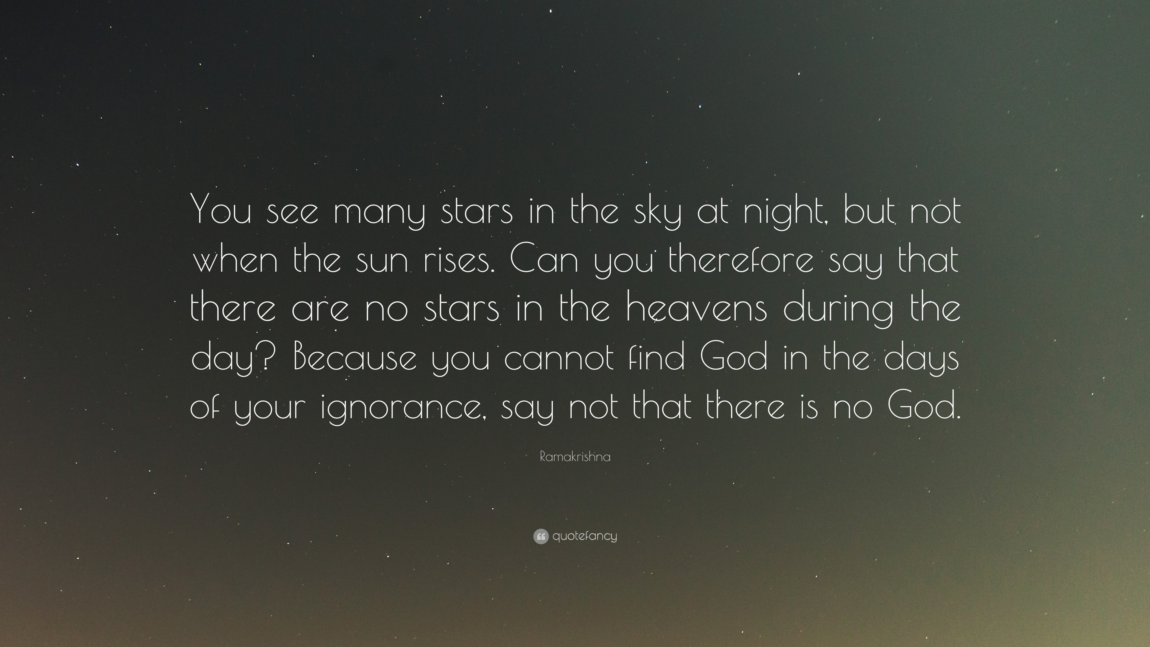 To See the Stars as God