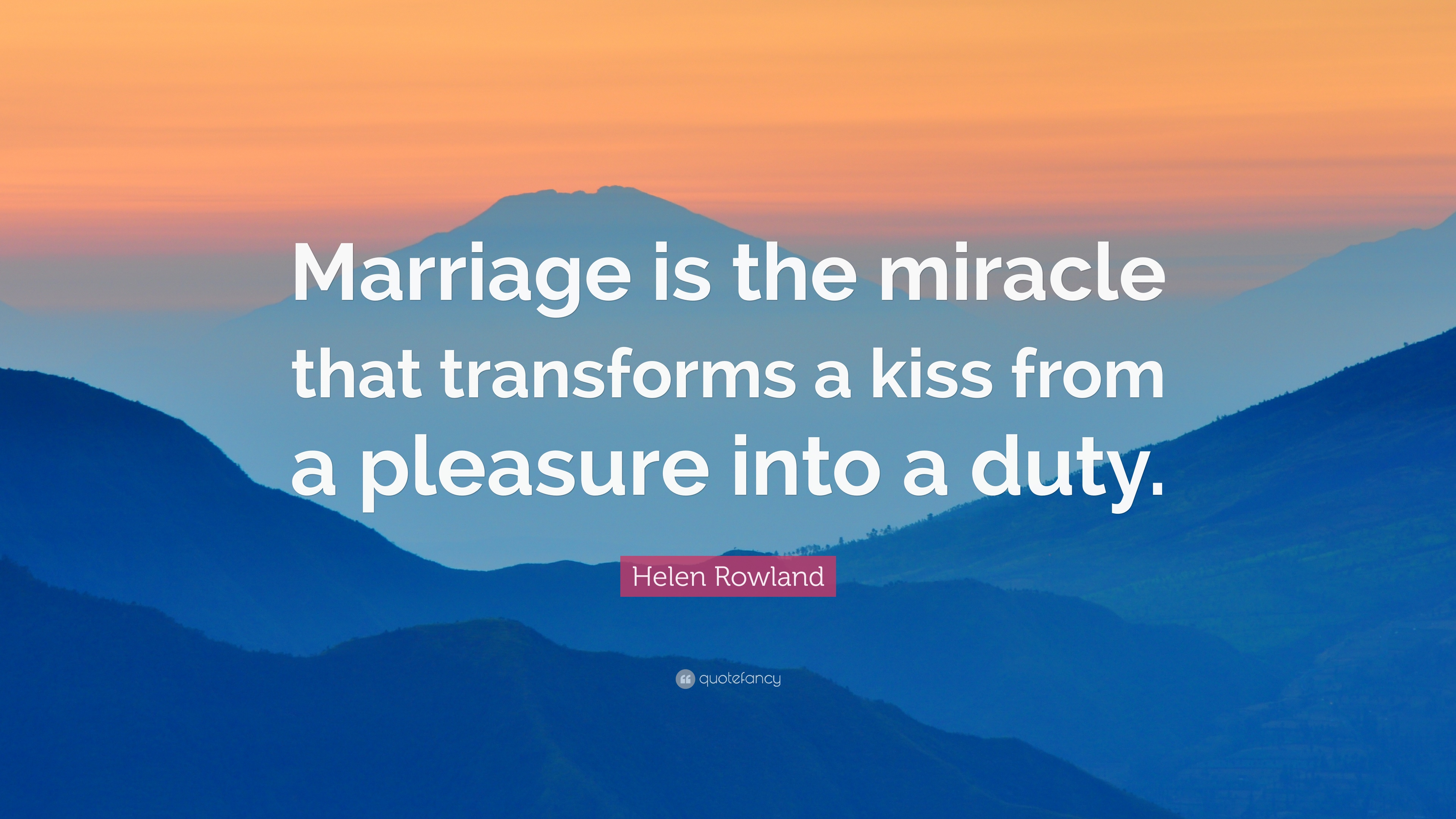 Marriage is a miracle on earth