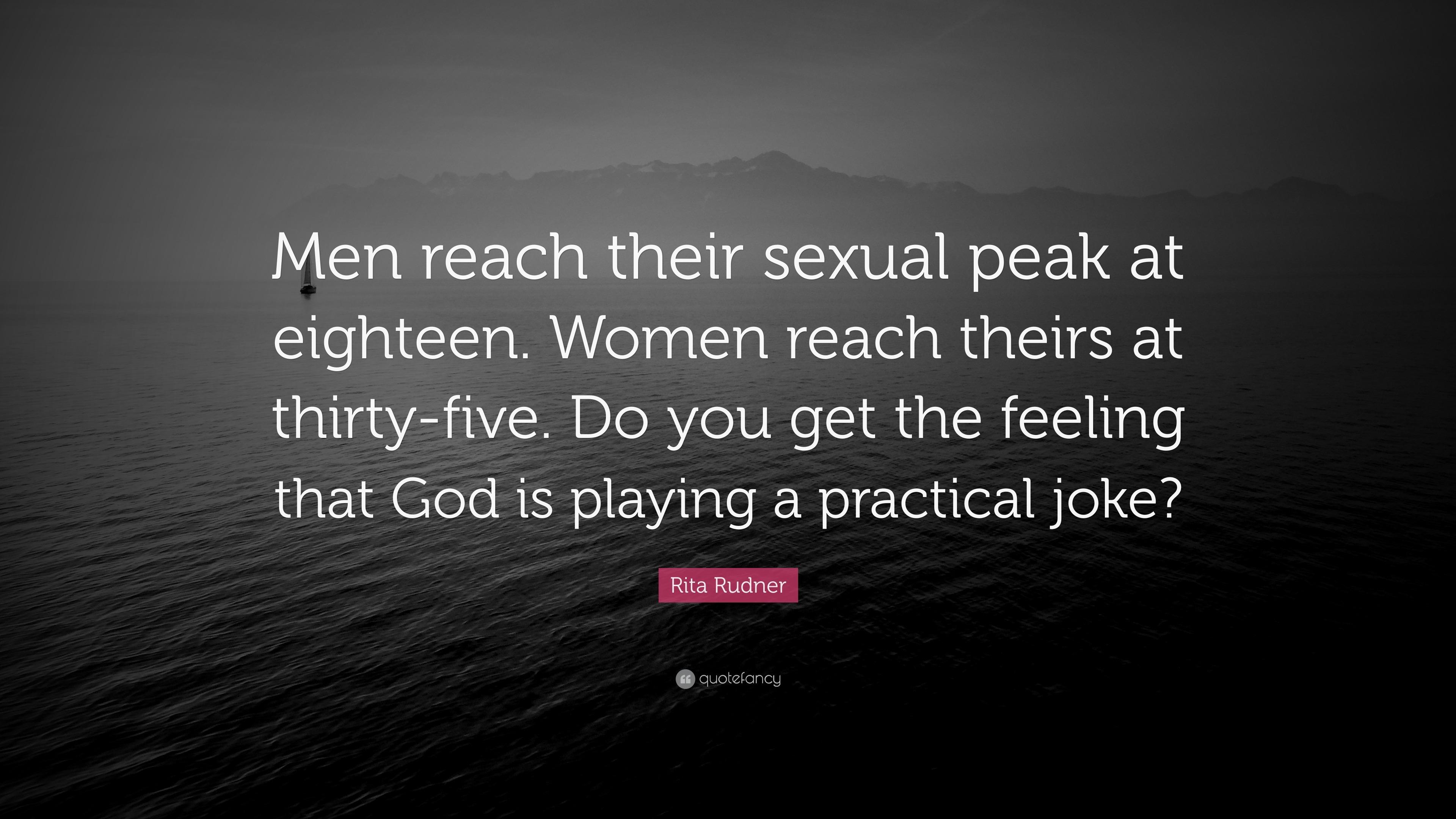 When do women reach sexual prime