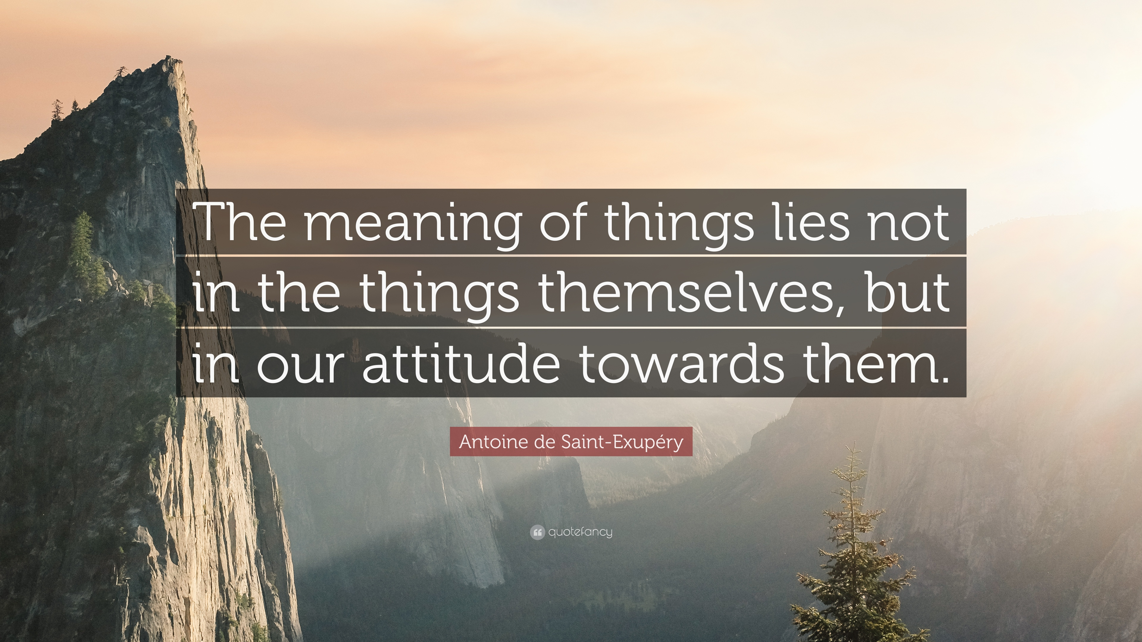 """Antoine de Saint-Exupéry Quote: """"The meaning of things lies"""