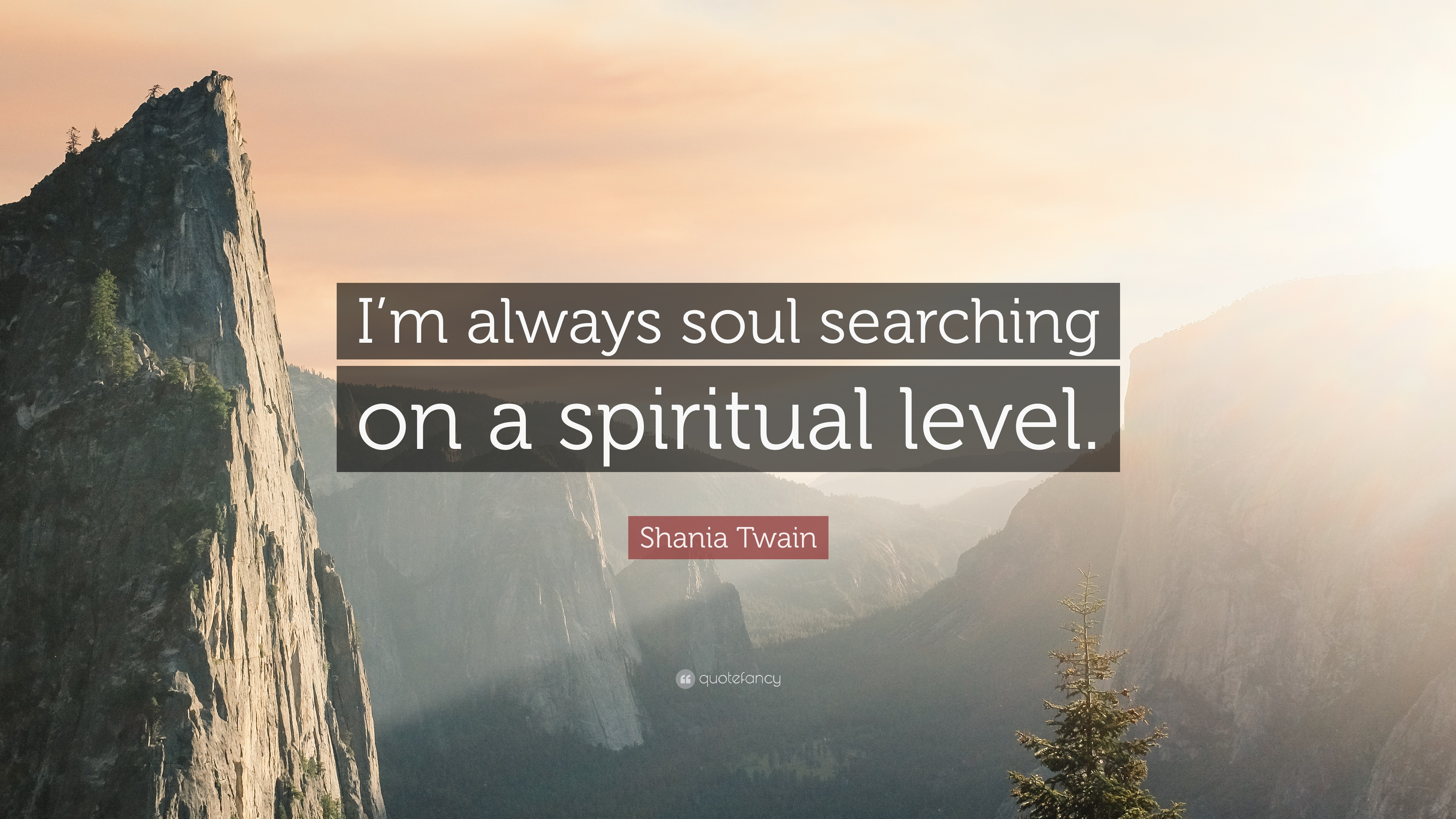 """Shania Twain Quote: """"I\'m always soul searching on a ..."""
