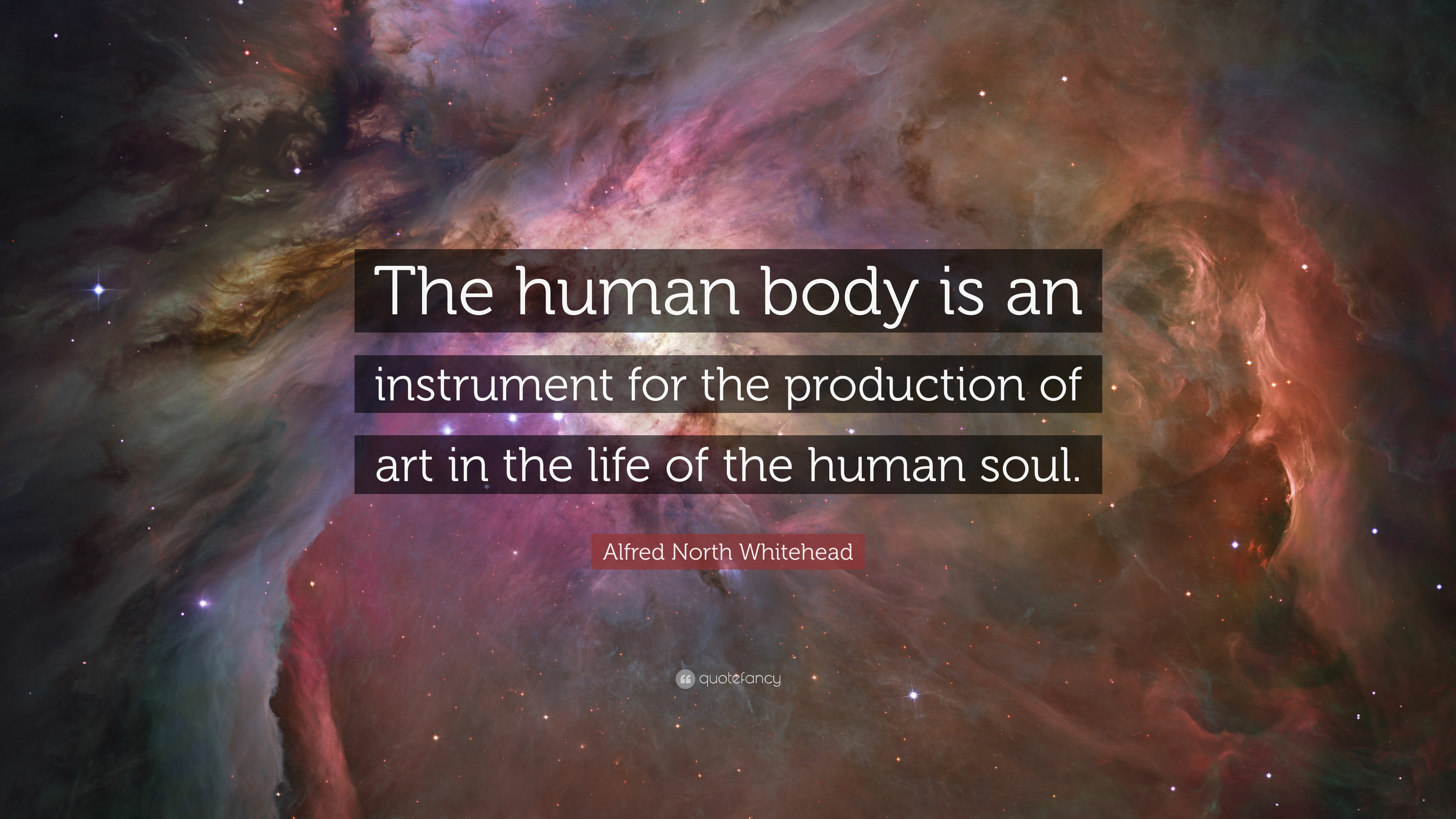 Alfred North Whitehead Quote The Human Body Is An Instrument For The Production Of Art In The Life Of The Human Soul 7 Wallpapers Quotefancy