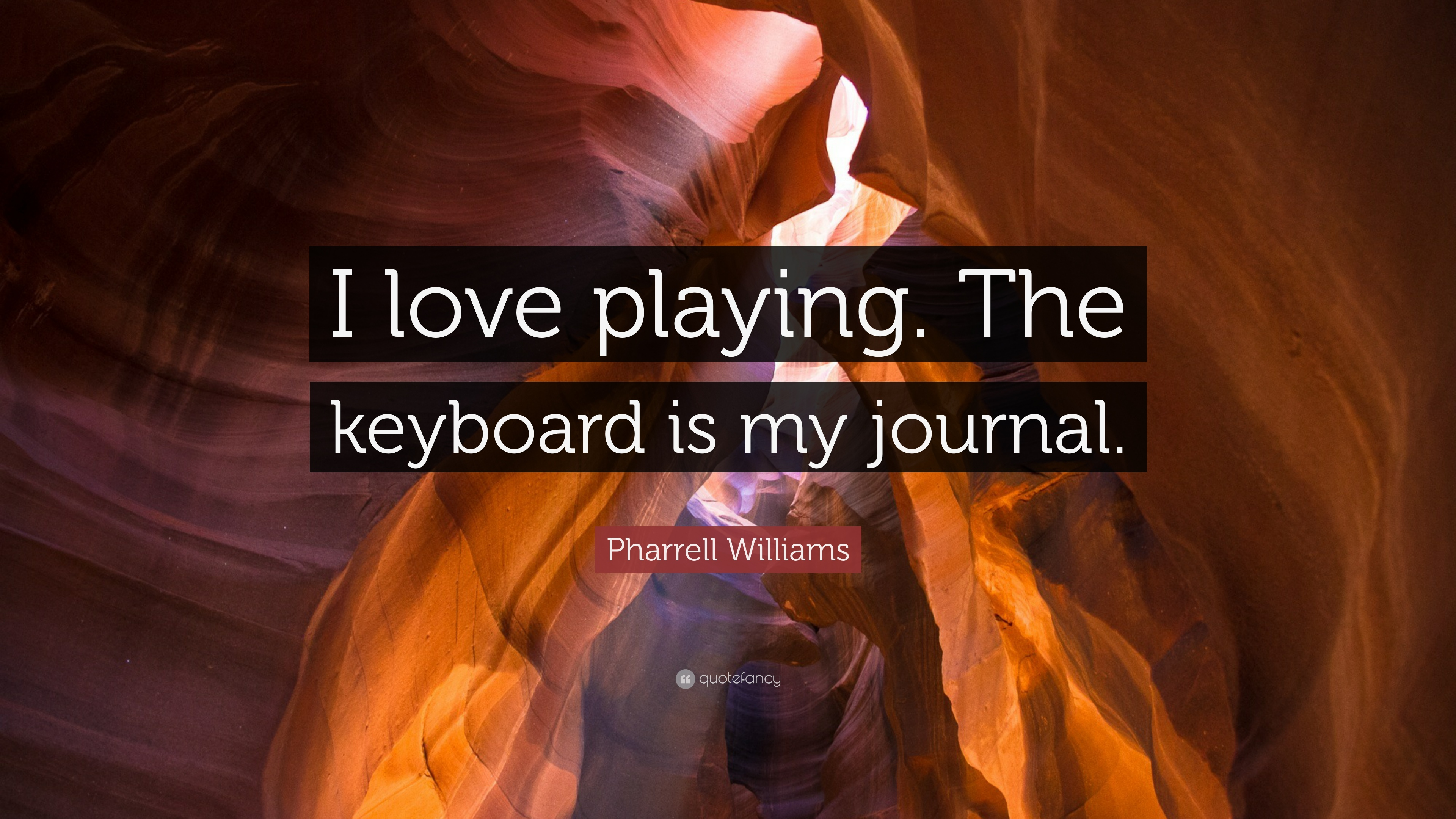 Pharrell Williams Quote: U201cI Love Playing. The Keyboard Is My Journal.u201d