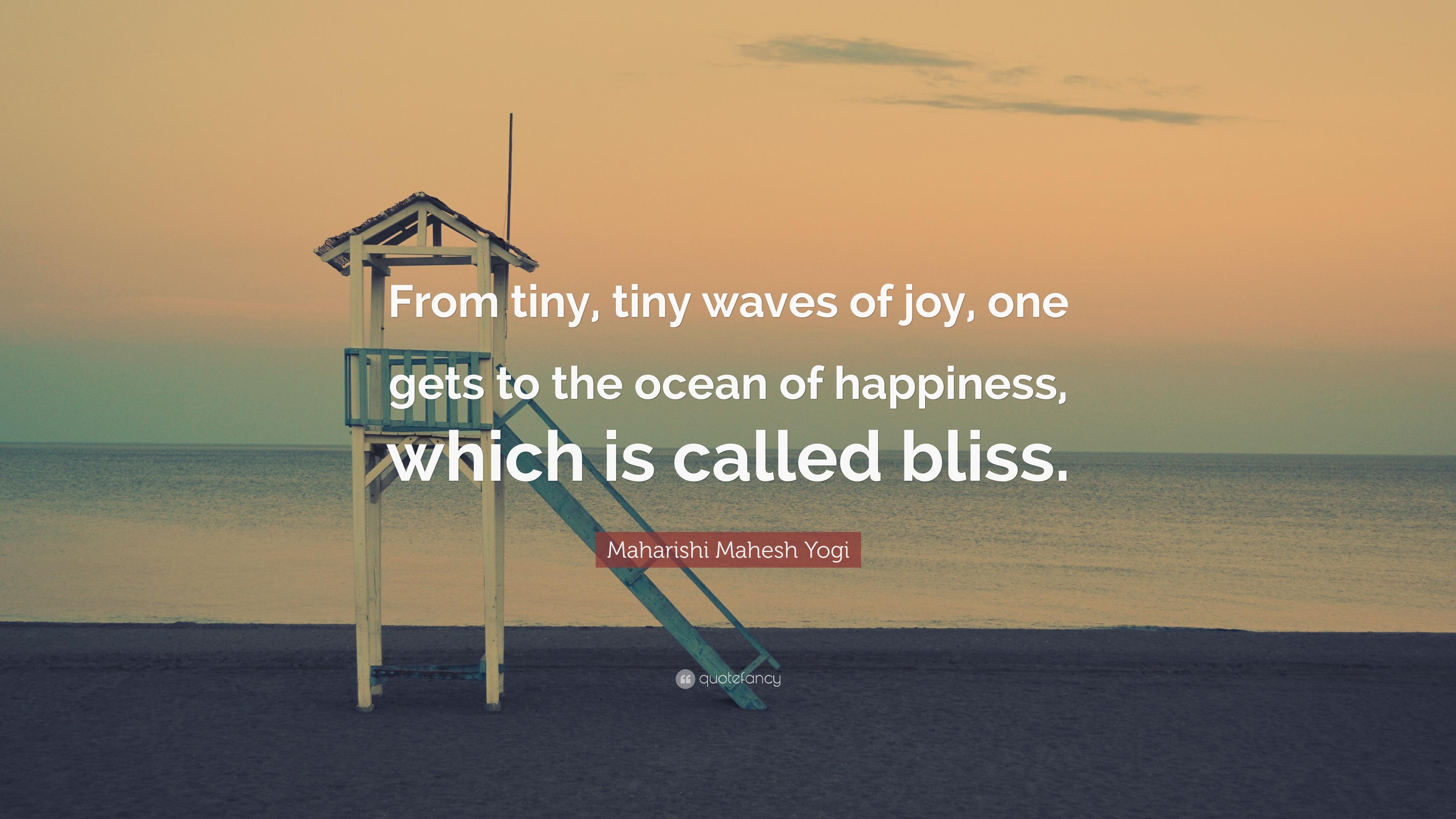 Maharishi Mahesh Yogi Quote From Tiny Tiny Waves Of Joy One Gets
