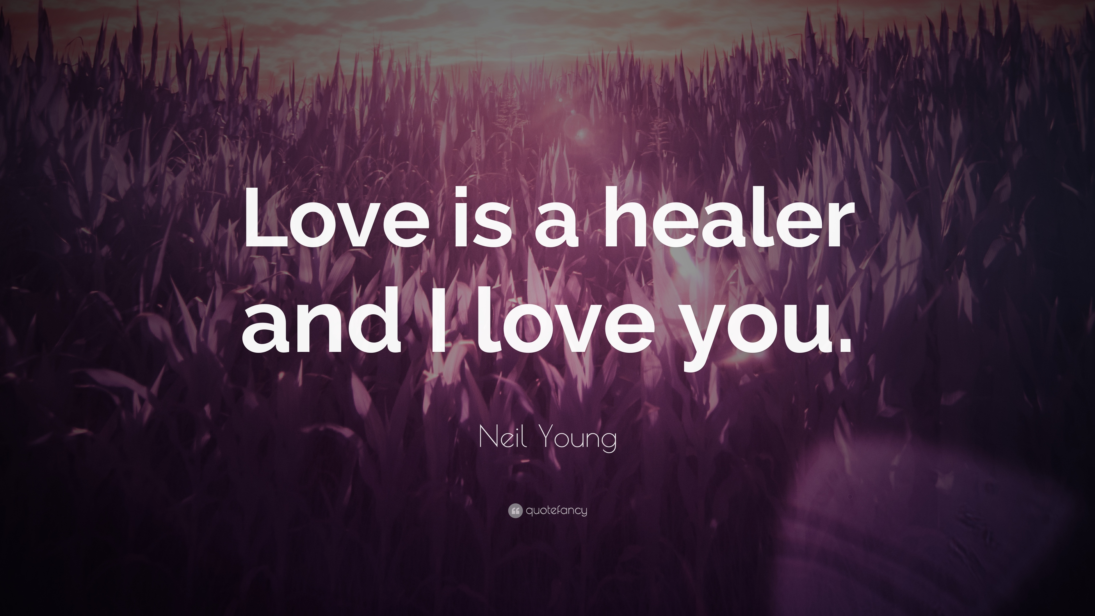 Young Love Quotes | Neil Young Quote Love Is A Healer And I Love You 7 Wallpapers