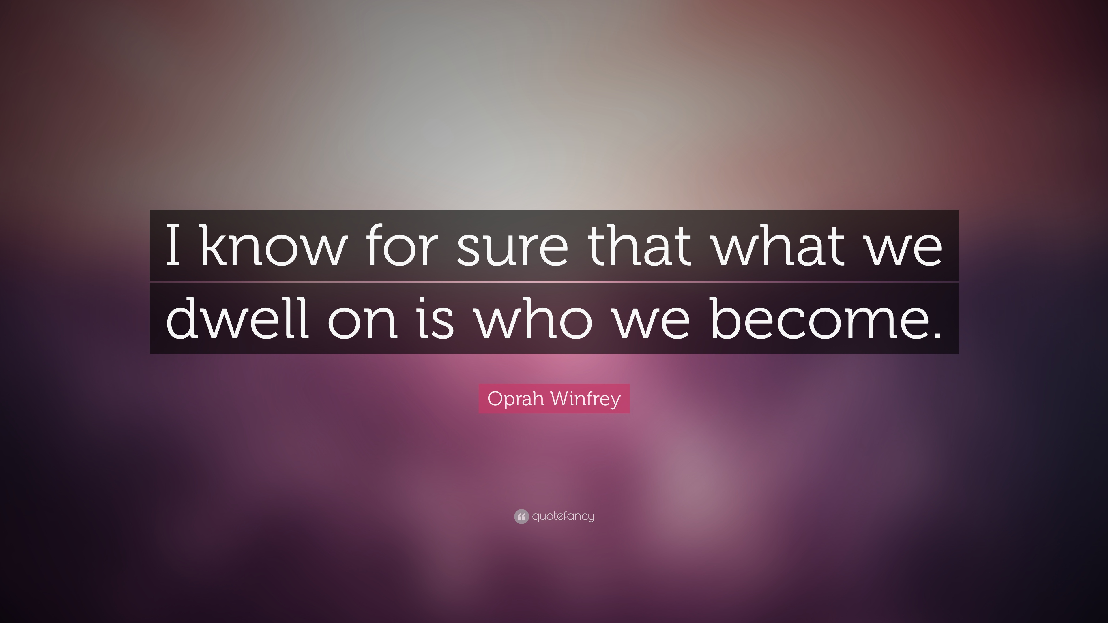 Proud To Be An American Essay Oprah Winfrey Quote I Know For Sure That What We Dwell On Is Who Aristotle Essay also Inspector Calls Essay Oprah Winfrey Quote I Know For Sure That What We Dwell On Is Who  Business Essay Topics