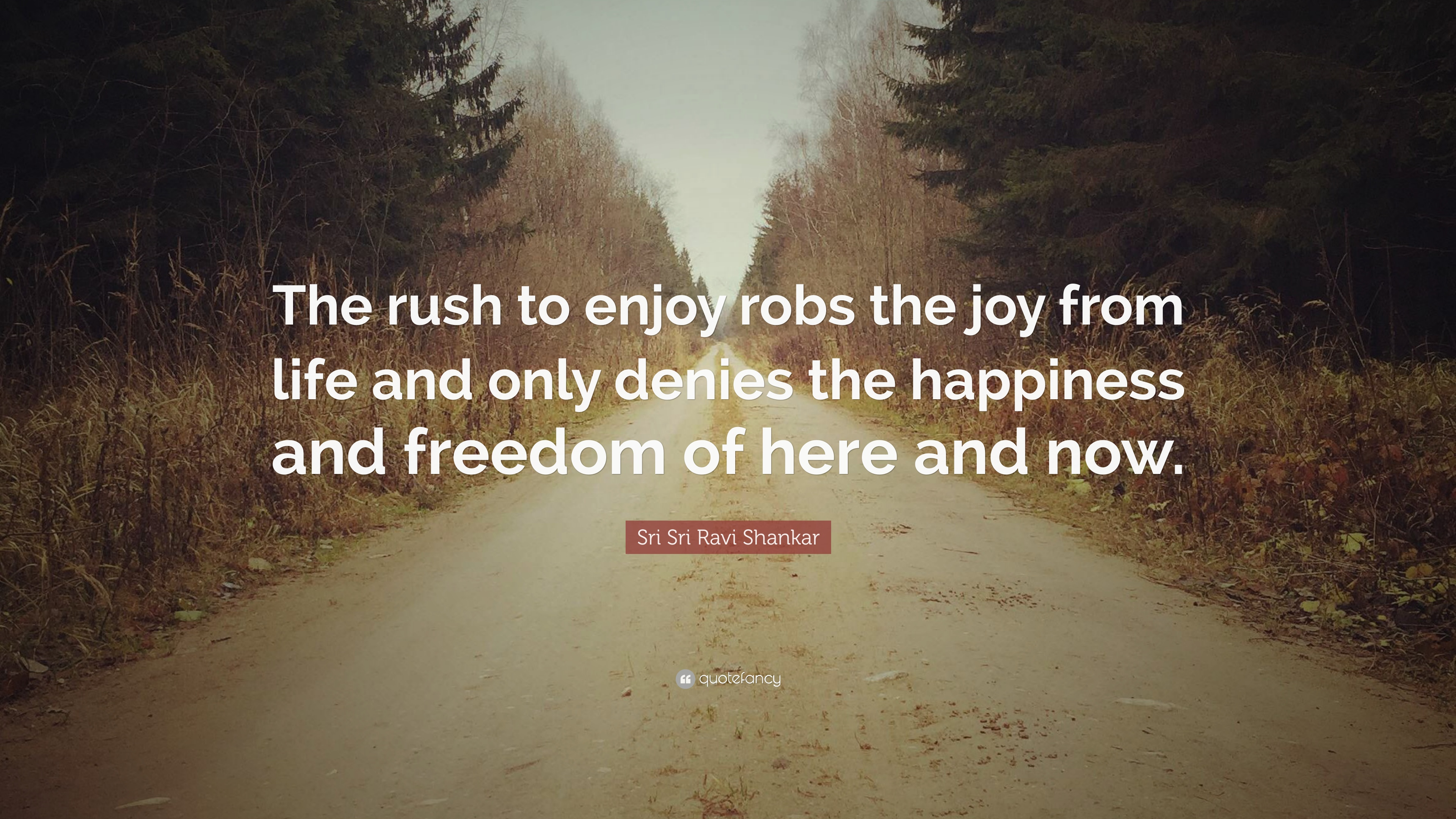 Sri Sri Ravi Shankar Quote The Rush To Enjoy Robs The Joy From