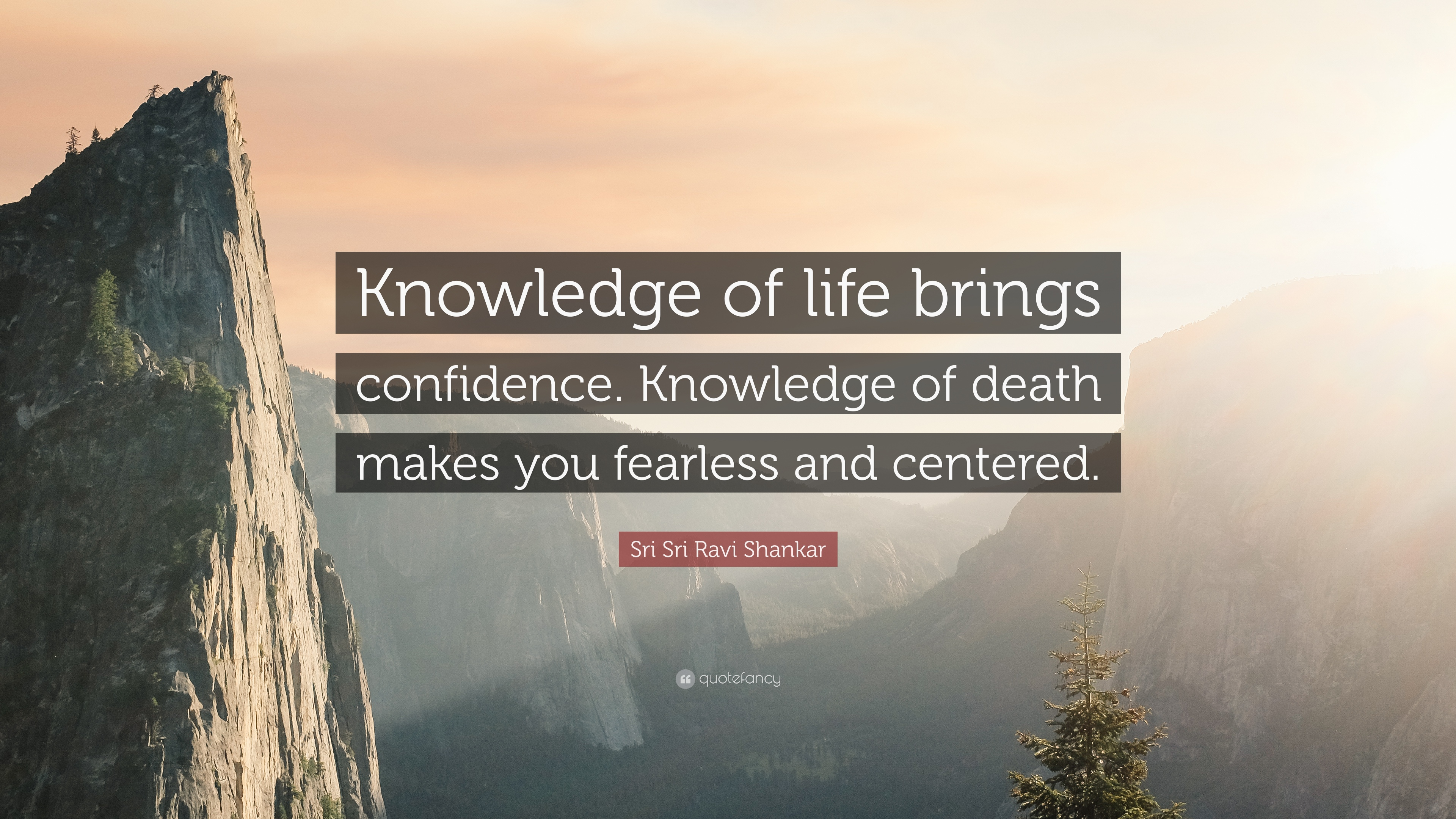 Sri Ravi Shankar Quote Knowledge Of Life Brings Confidence
