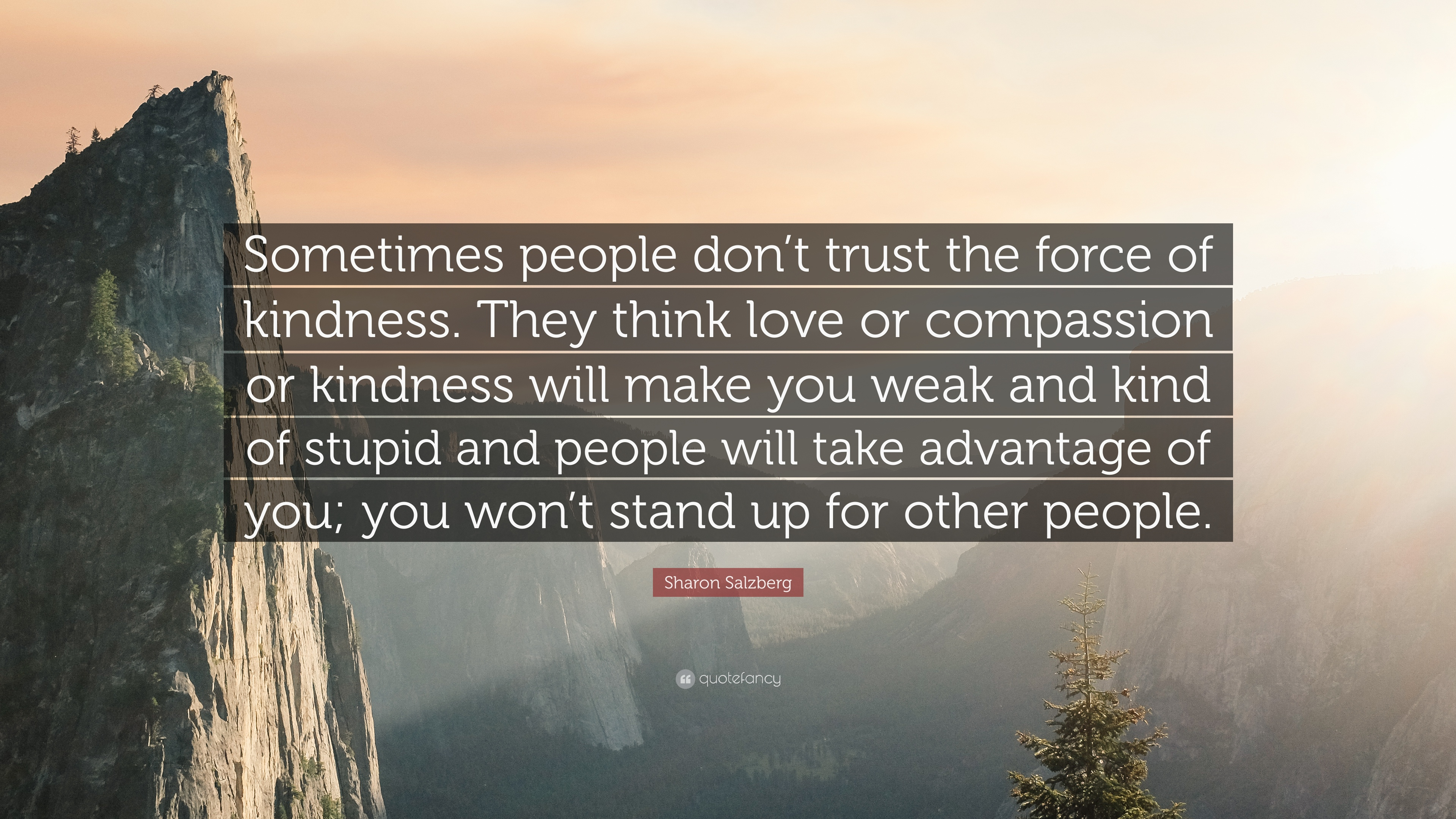 Sharon Salzberg Quote Sometimes People Dont Trust The Force Of