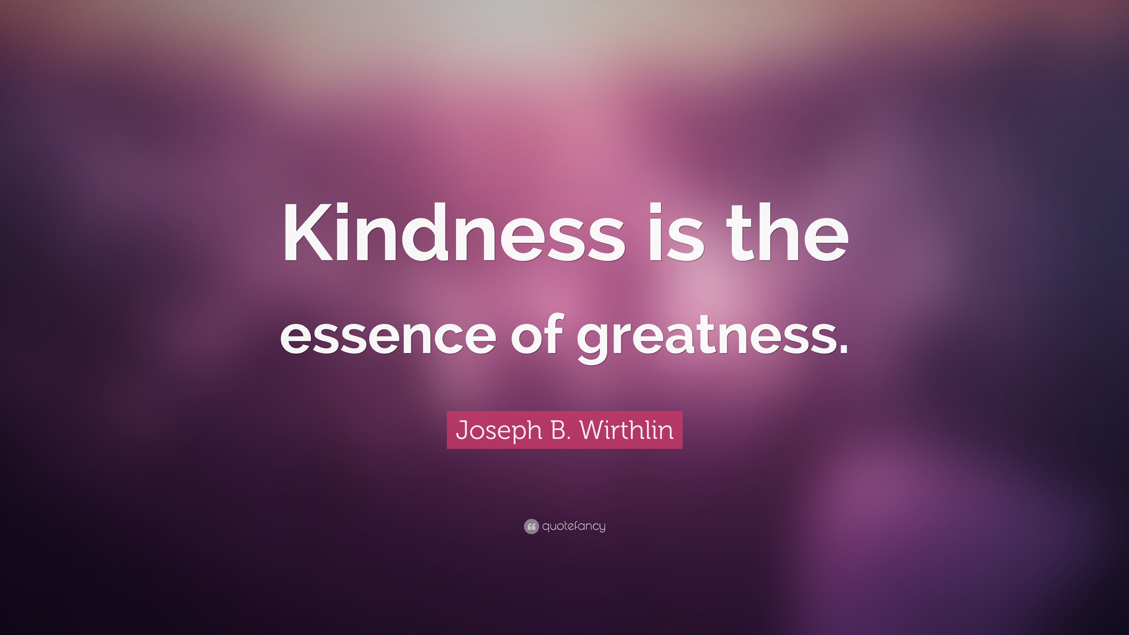 Kindness Is The Vital Of Greatness