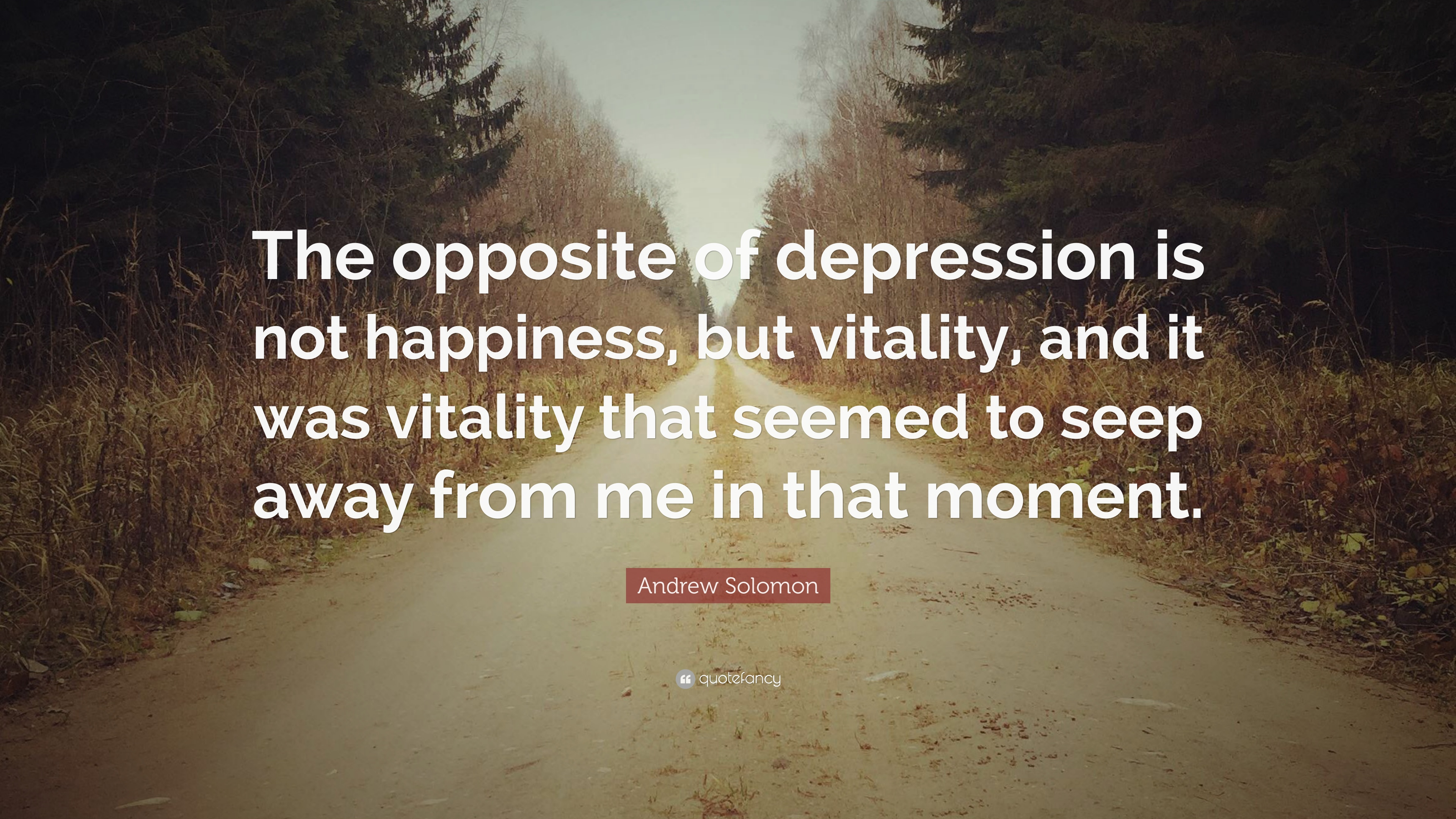 Superbe Andrew Solomon Quote: U201cThe Opposite Of Depression Is Not Happiness, But  Vitality,
