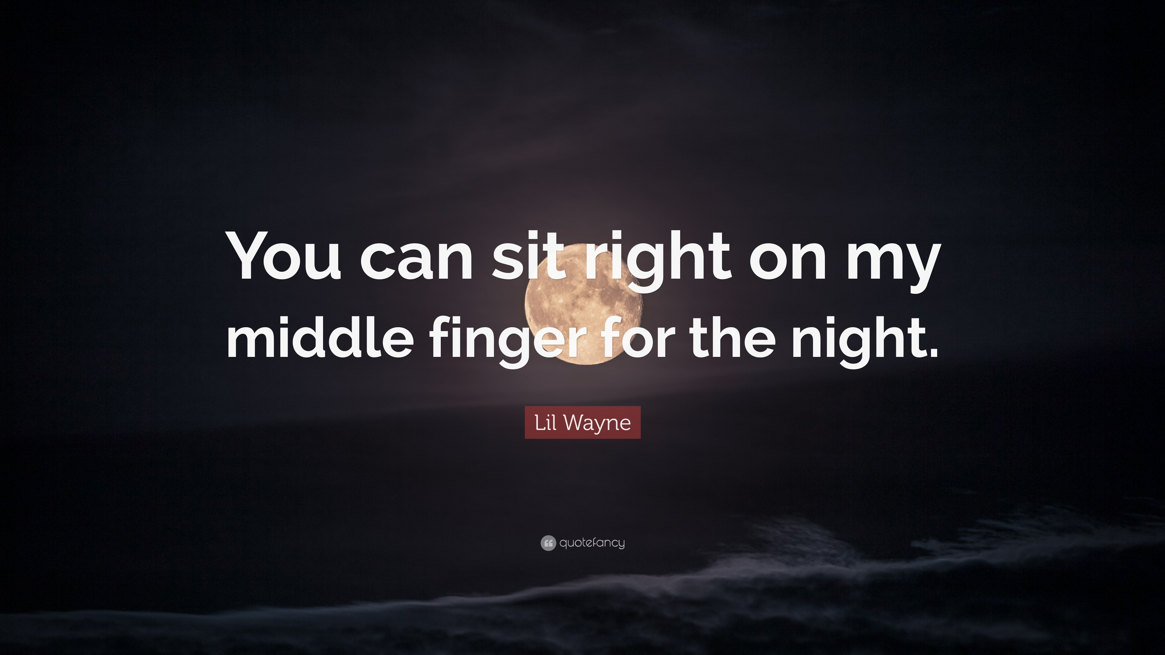 Lil Wayne Quote You Can Sit Right On My Middle Finger For