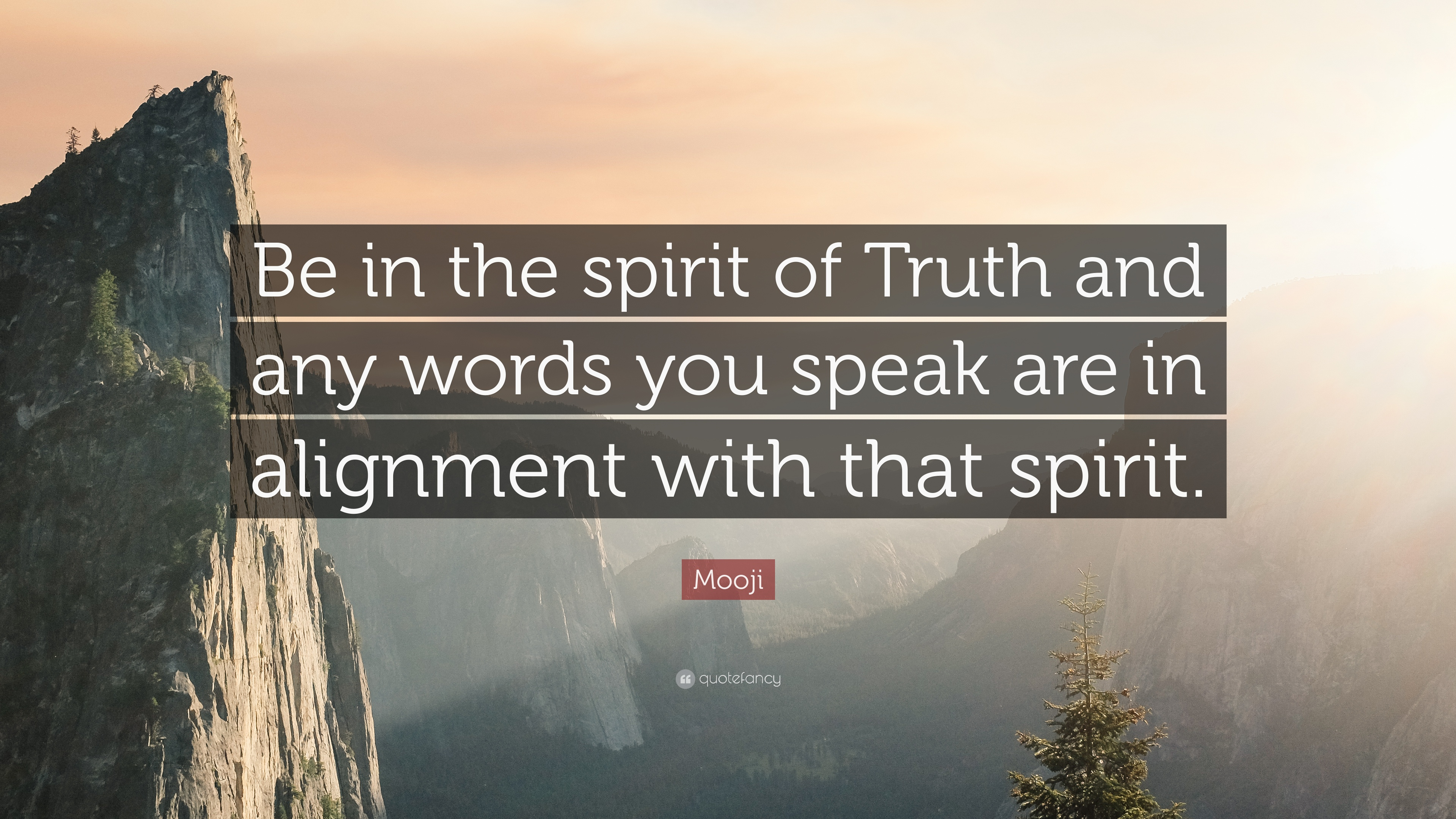 """Spirit Of Truth Quotes: Mooji Quote: """"Be In The Spirit Of Truth And Any Words You"""