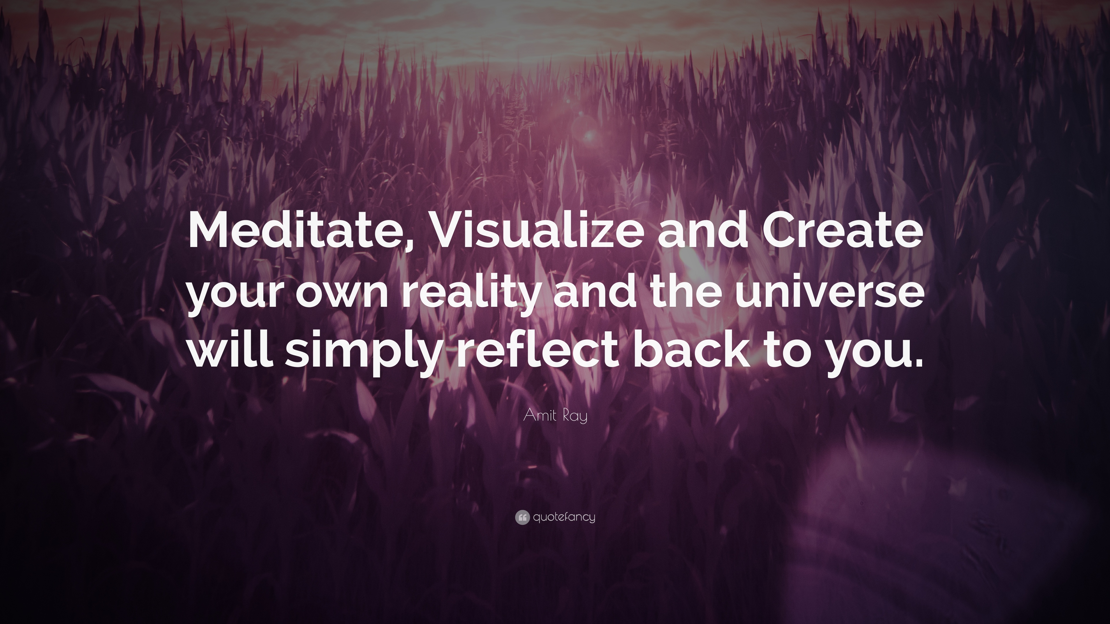 """Create Your Own Quote Amit Ray Quote """"Meditate Visualize And Create Your Own Reality"""