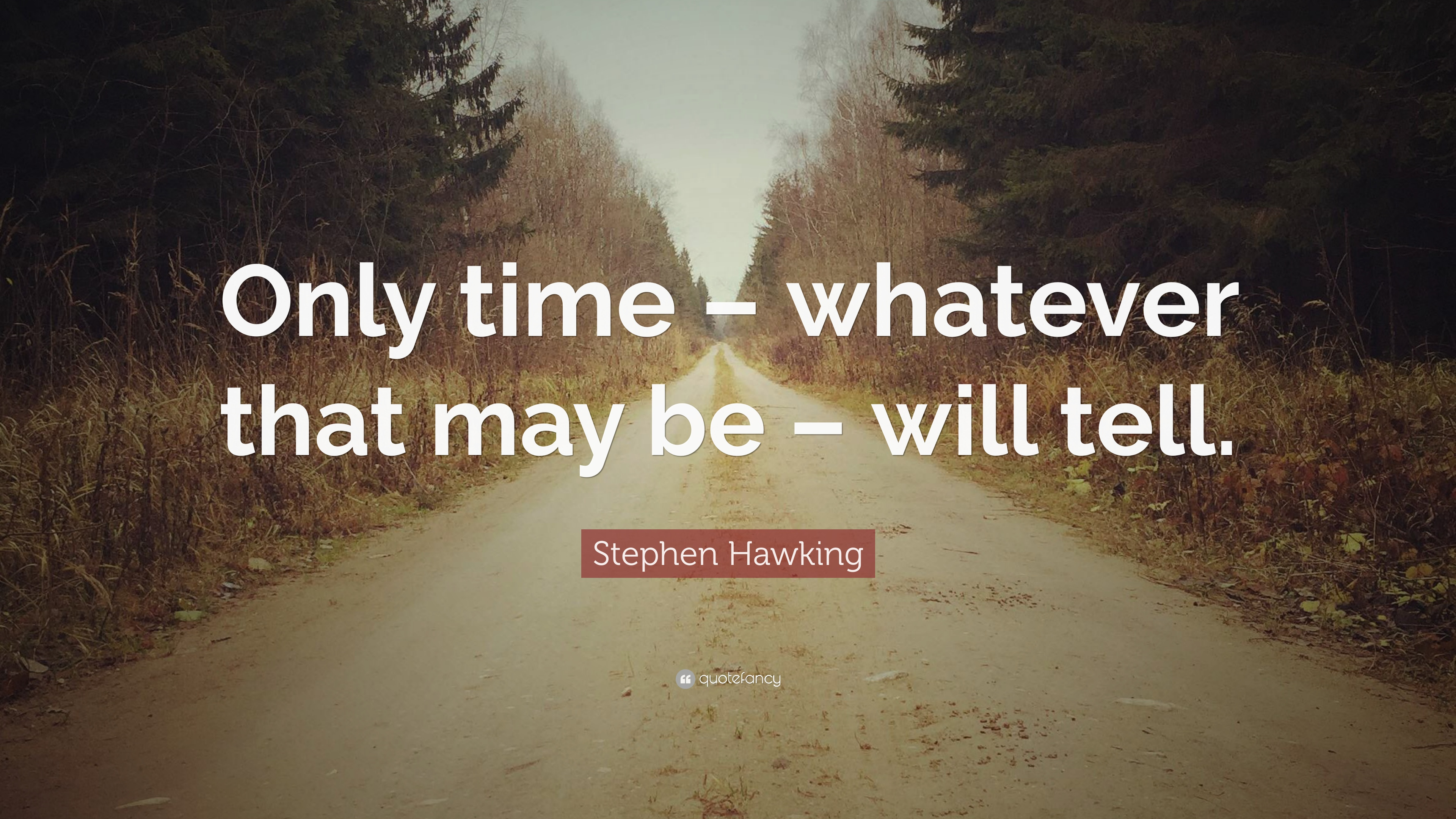Stephen Hawking Quote Only Time Whatever That May Be Will Tell