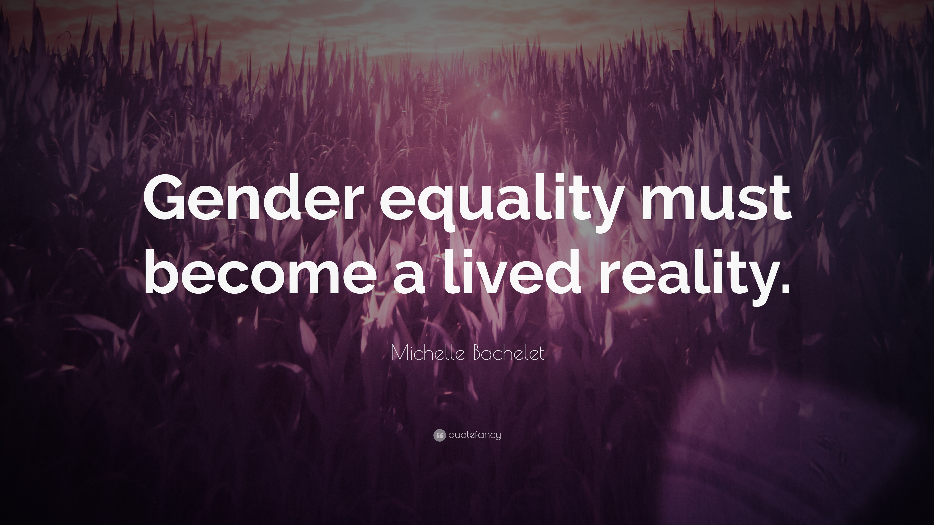 "Gender Equality Quotes Michelle Bachelet Quote ""Gender Equality Must Become A Lived"