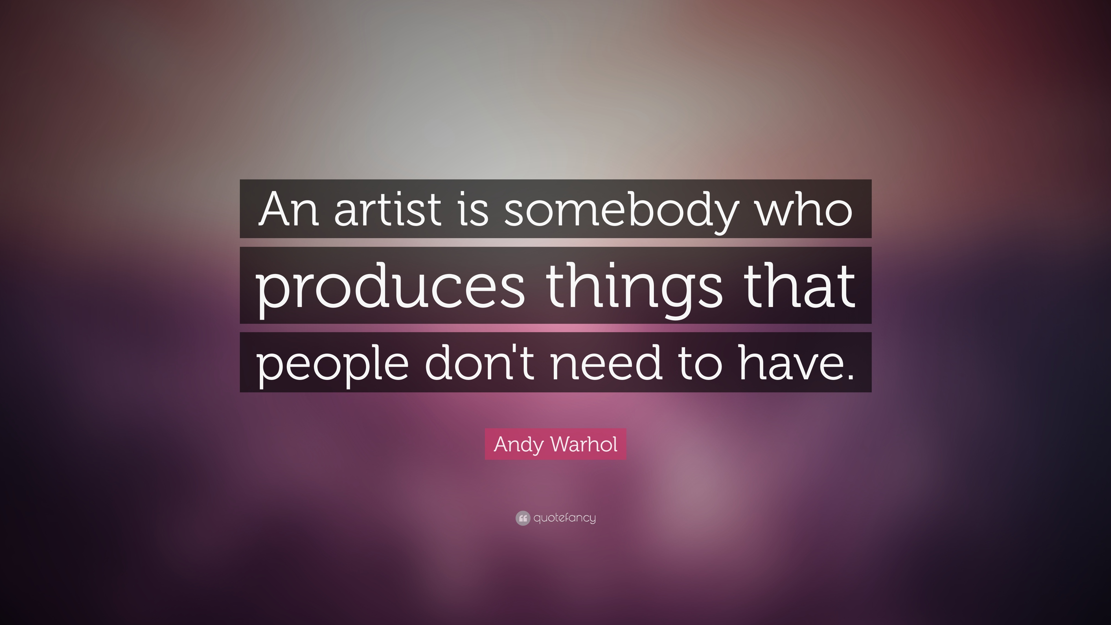 andy warhol quotes - HD 3840×2160