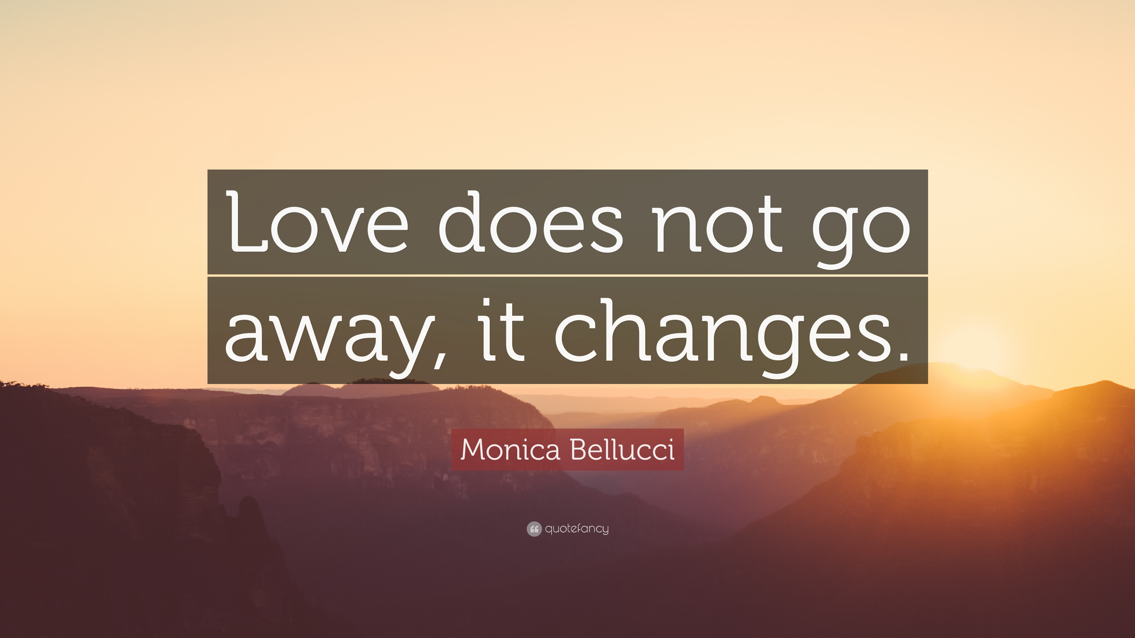 Monica Bellucci Quote Love Does Not Go Away It Changes