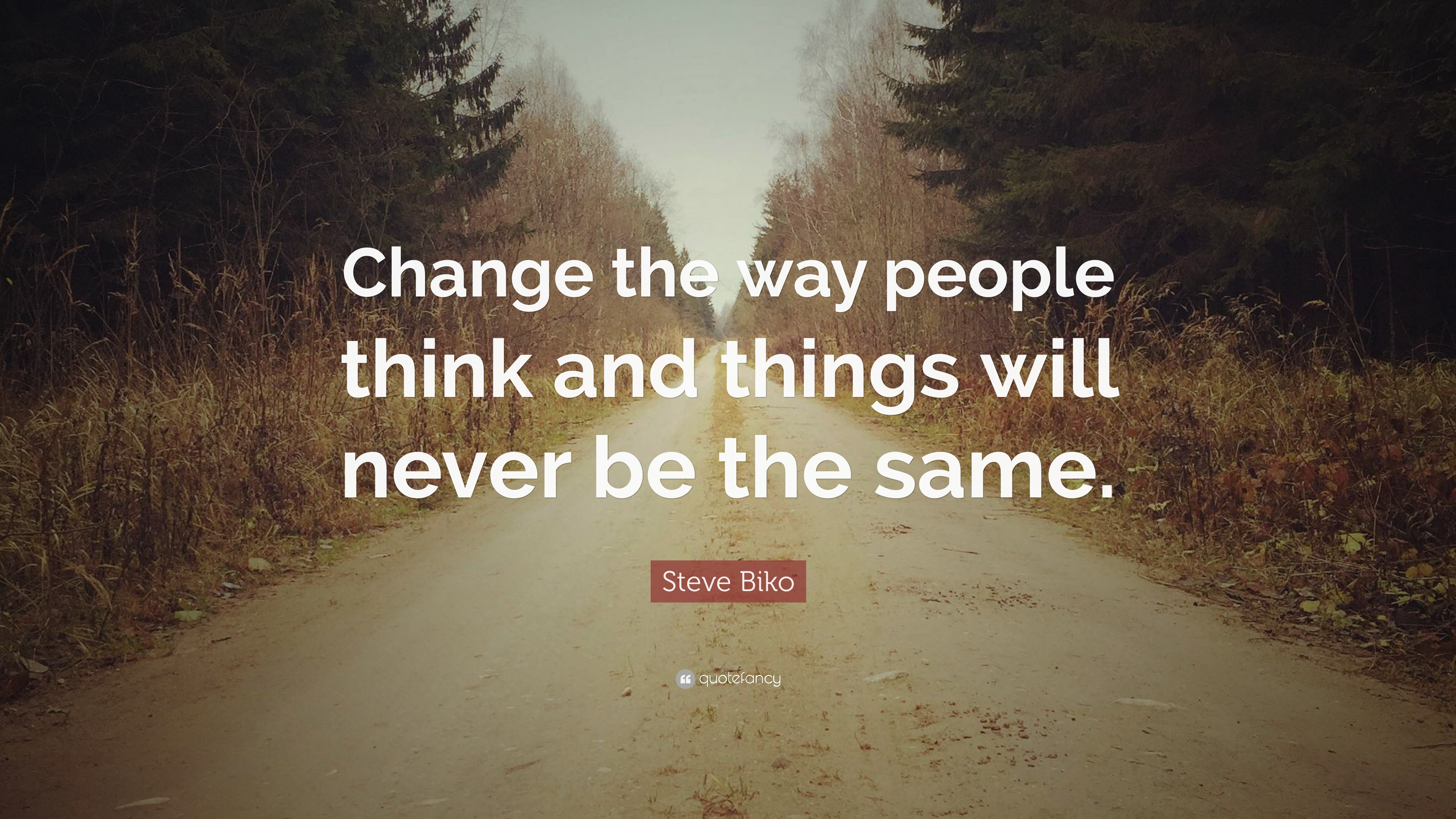 Steve Biko Quote Change The Way People Think And Things Will Never