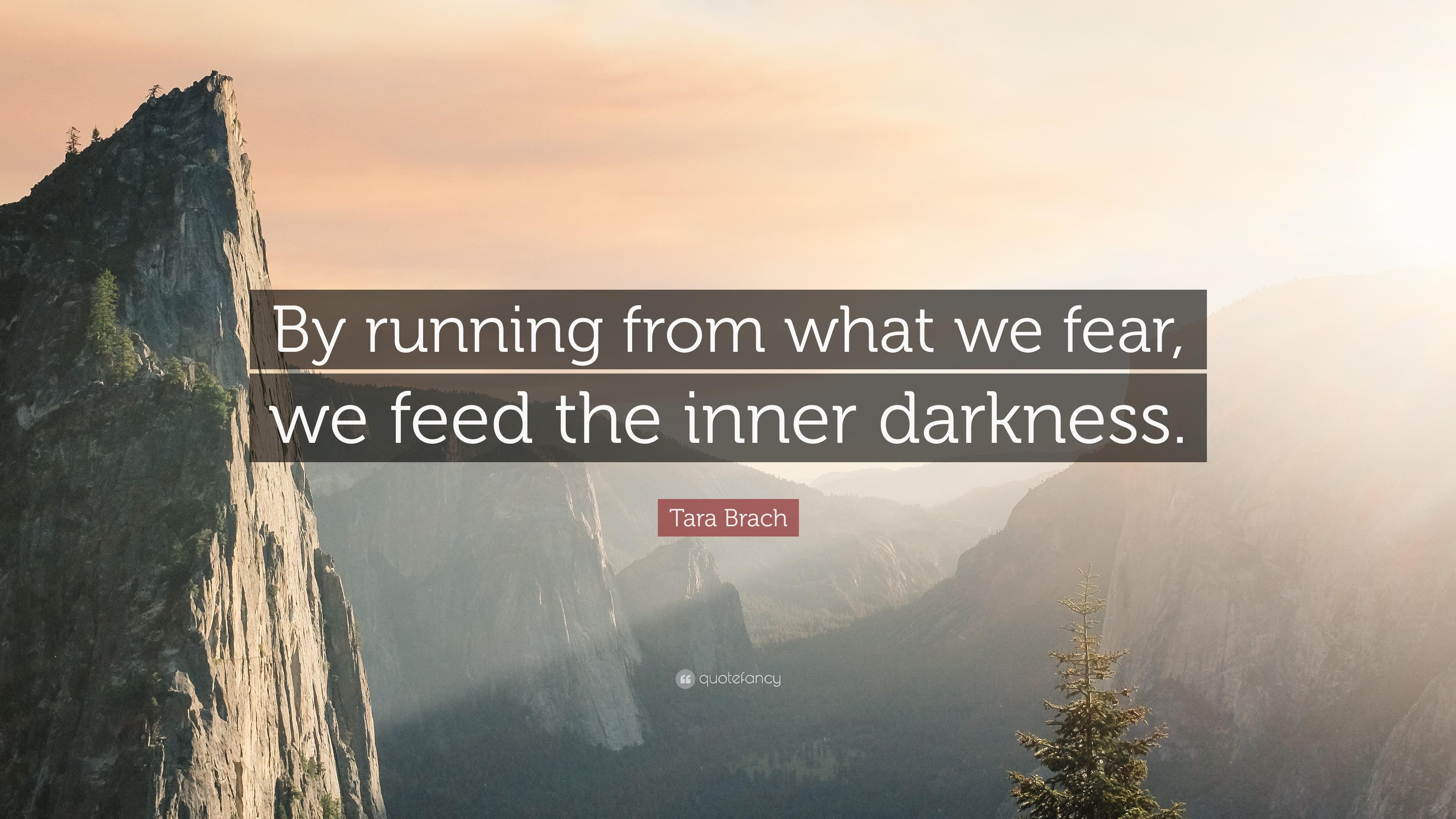 Tara Brach Quote By Running From What We Fear We Feed The Inner