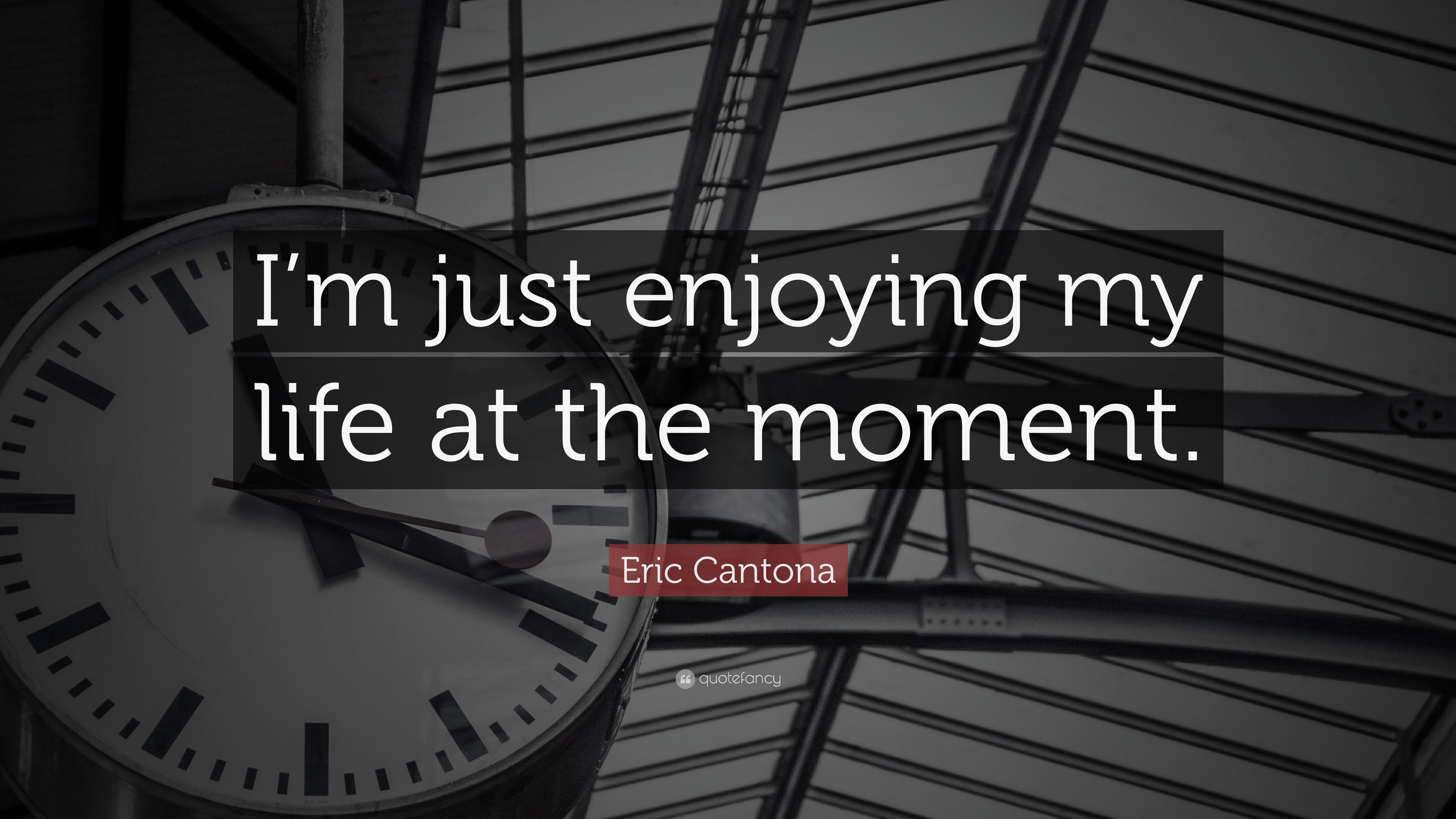 "Quotes About Enjoying Life Eric Cantona Quote ""I'm Just Enjoying My Life At The Moment."" 9"
