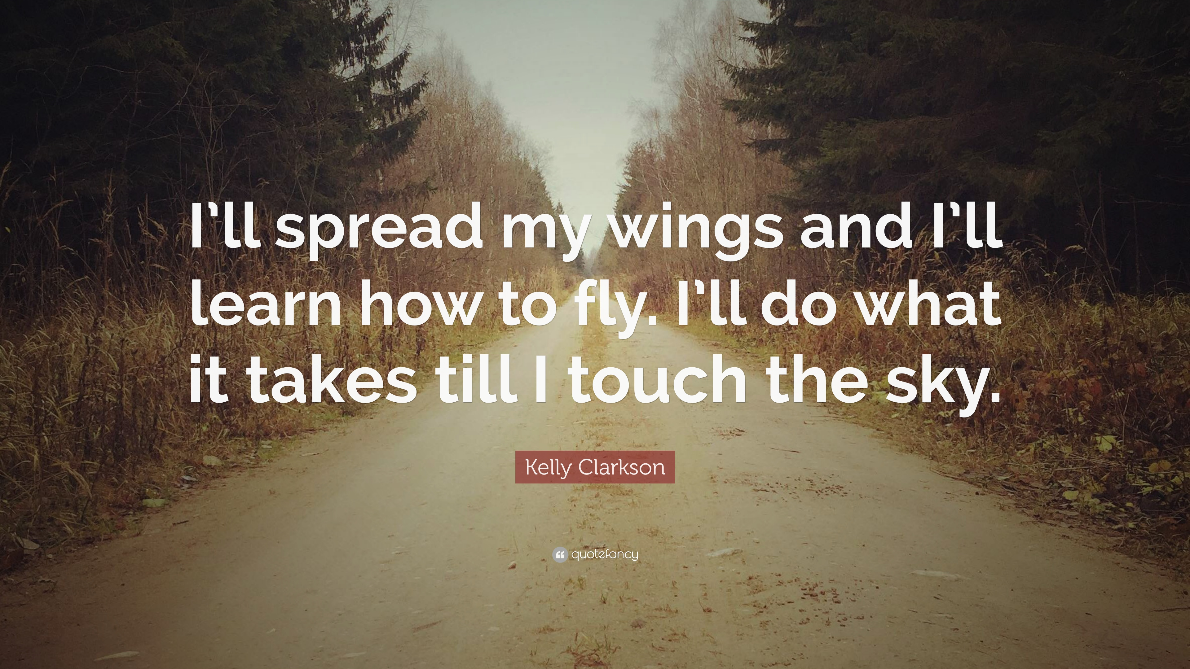 I'll spread my wings and I'll learn how to fly, I'll do ...