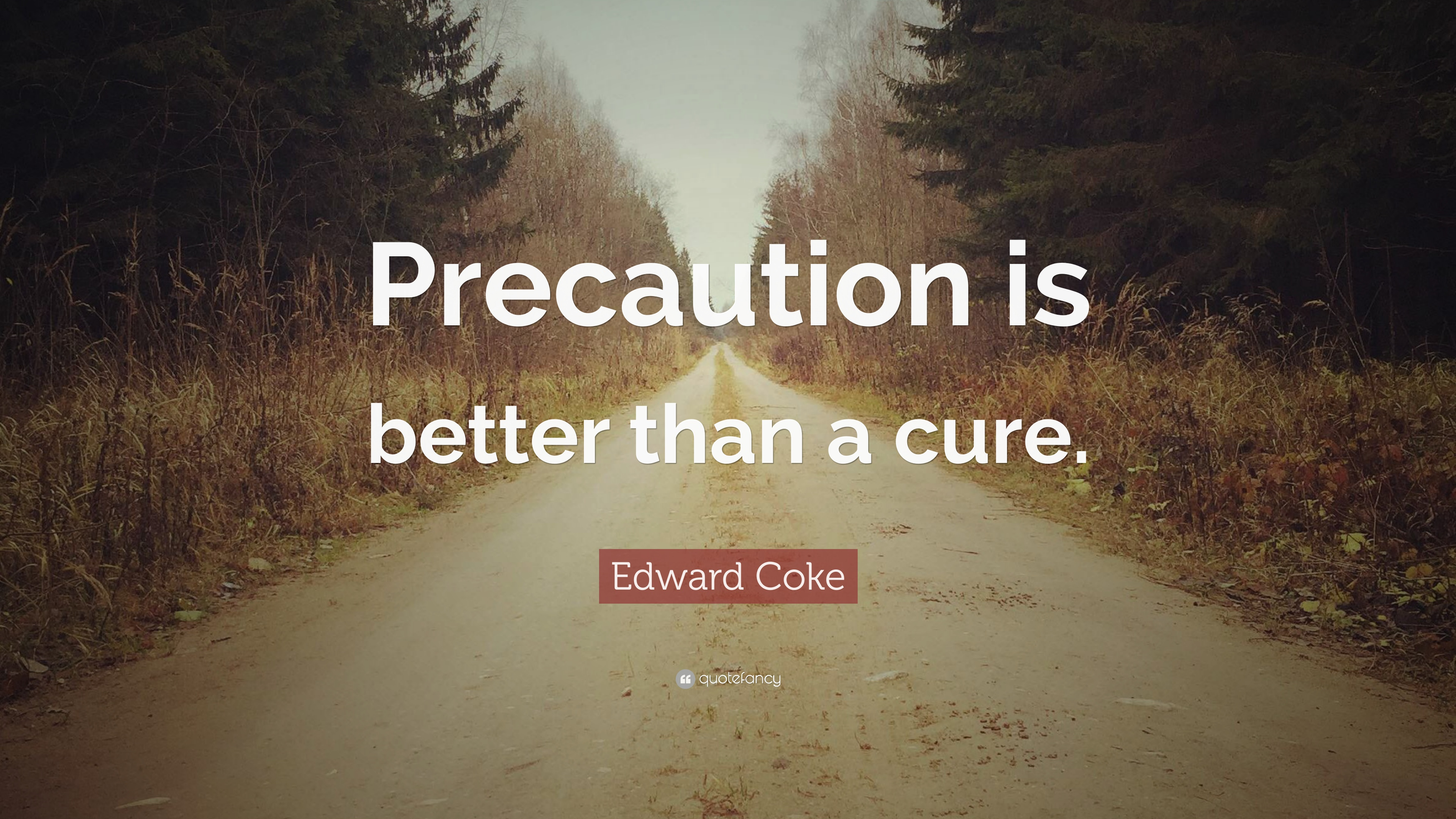 "Prevention Is Better Than Cure Quotes: Edward Coke Quote: ""Precaution Is Better Than A Cure."" (7"