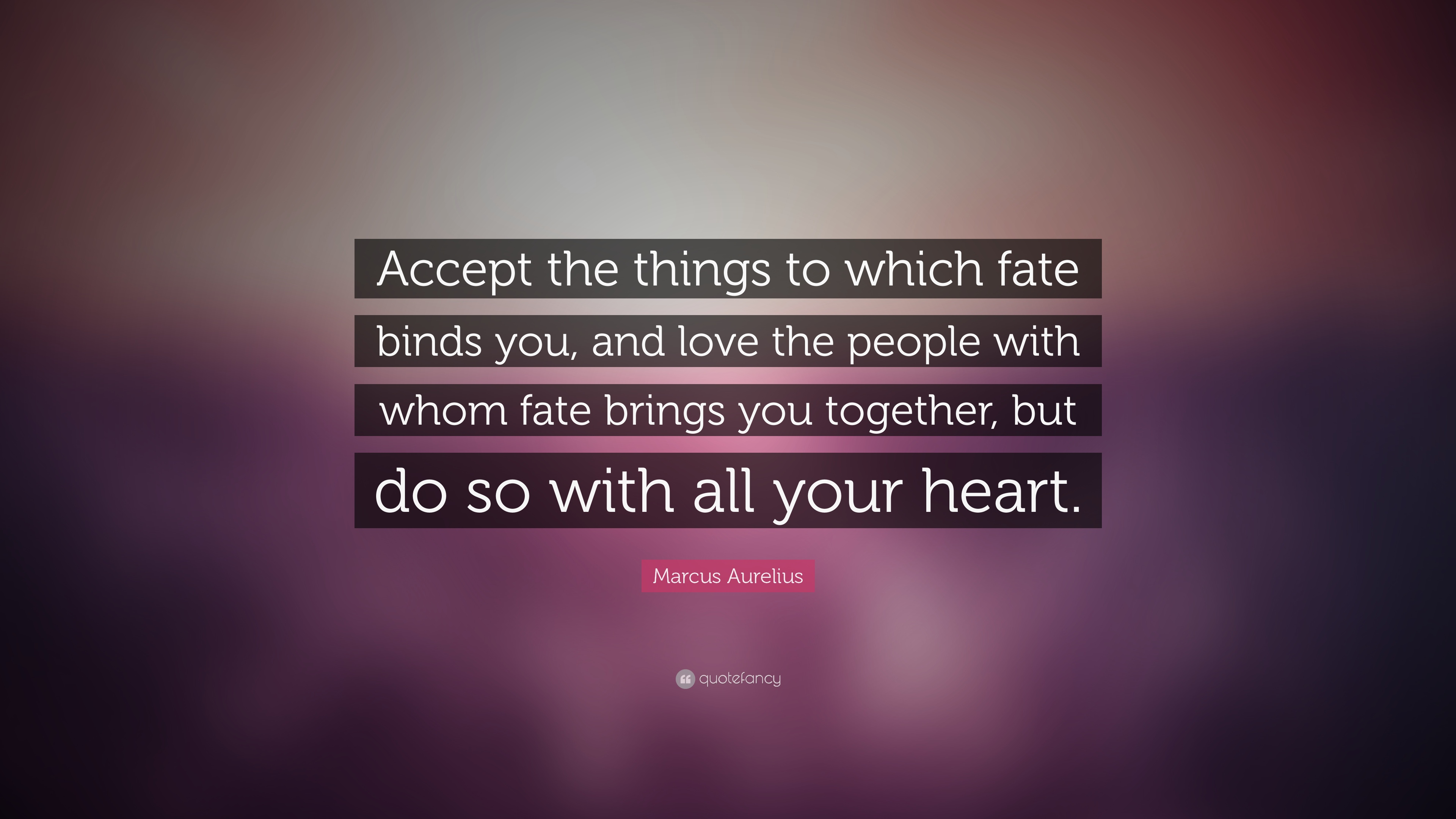 Marcus Aurelius Quote Accept The Things To Which Fate Binds You