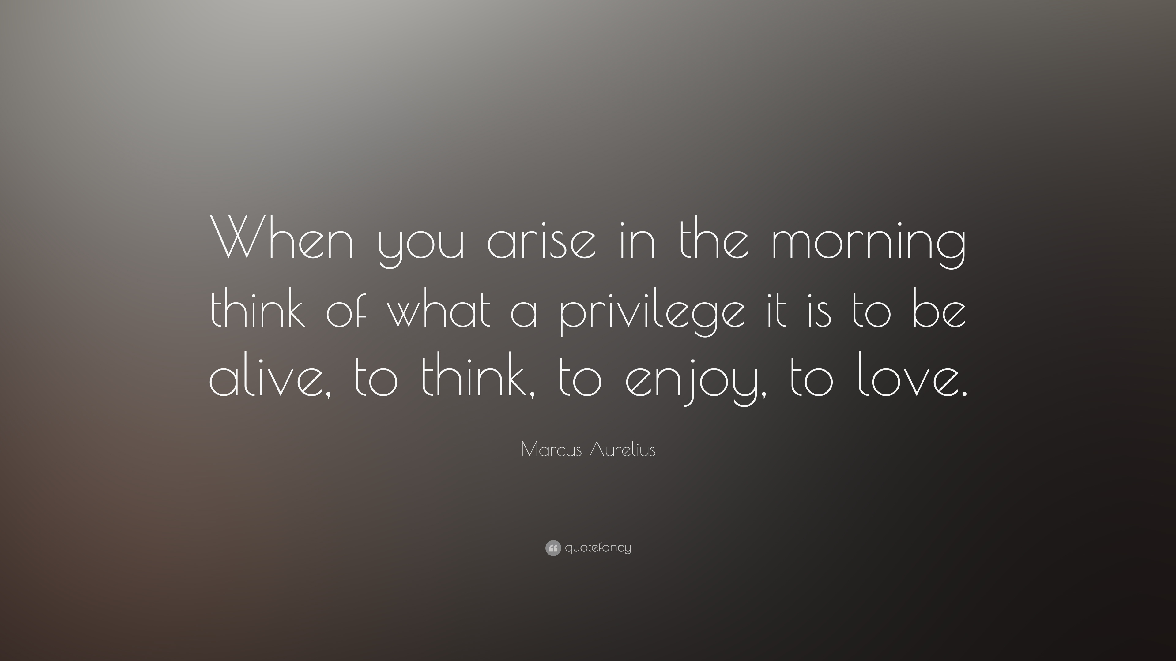 Marcus Aurelius Quote When You Arise In The Morning Think Of What