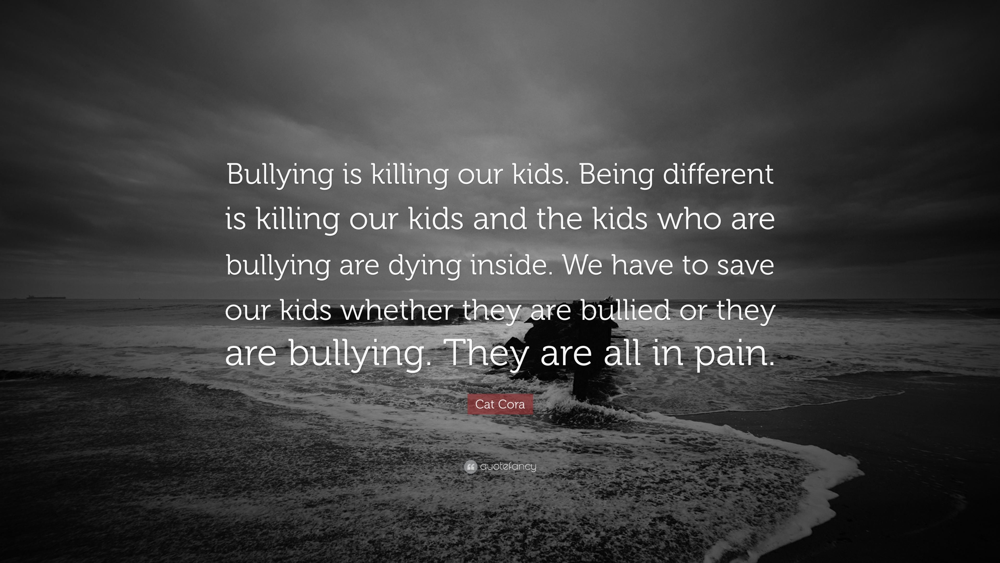 Quotes About Bullying | Cat Cora Quote Bullying Is Killing Our Kids Being Different Is