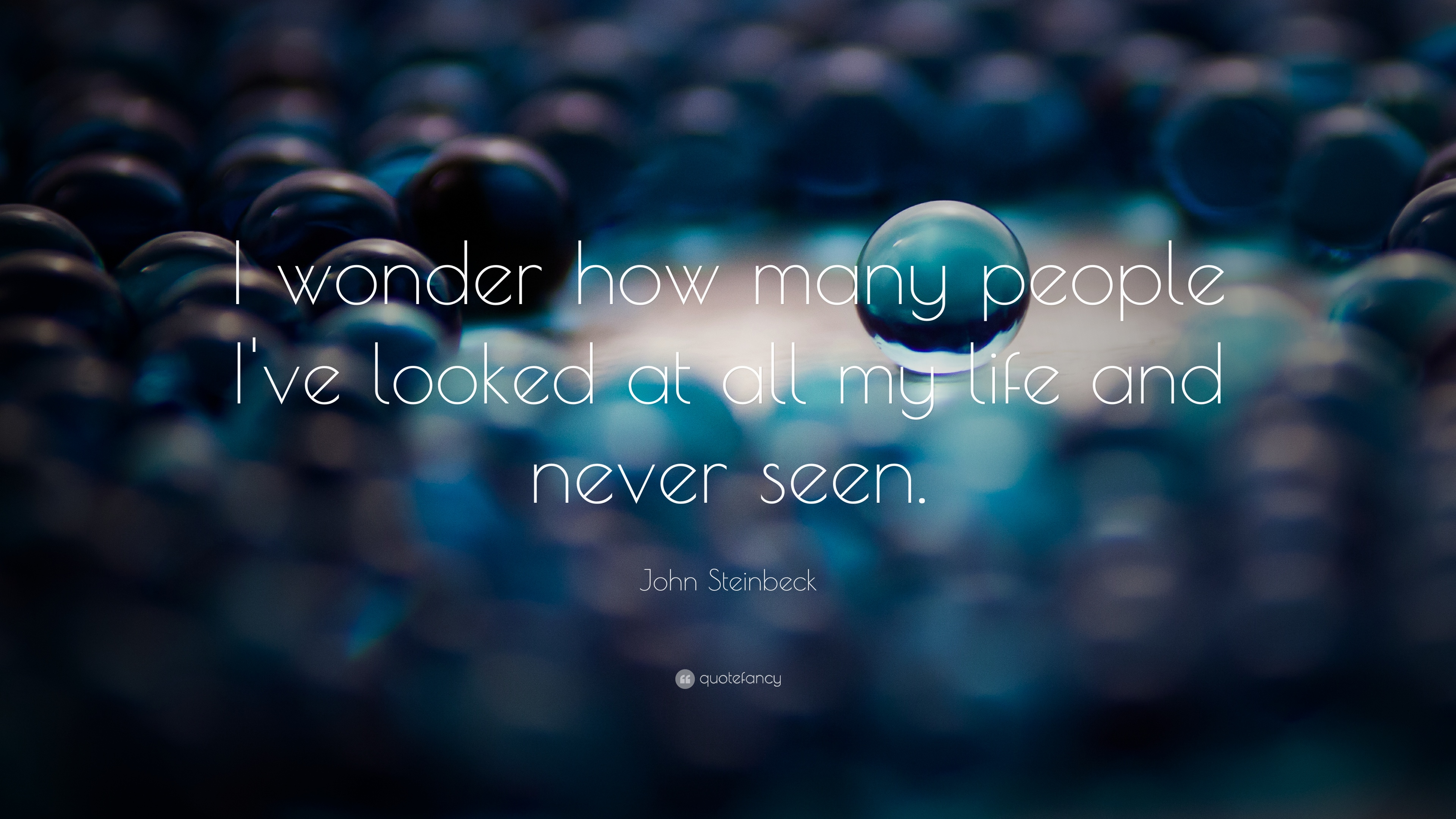 John Steinbeck Quote I Wonder How Many People I Ve Looked At All My Life And Never Seen 2