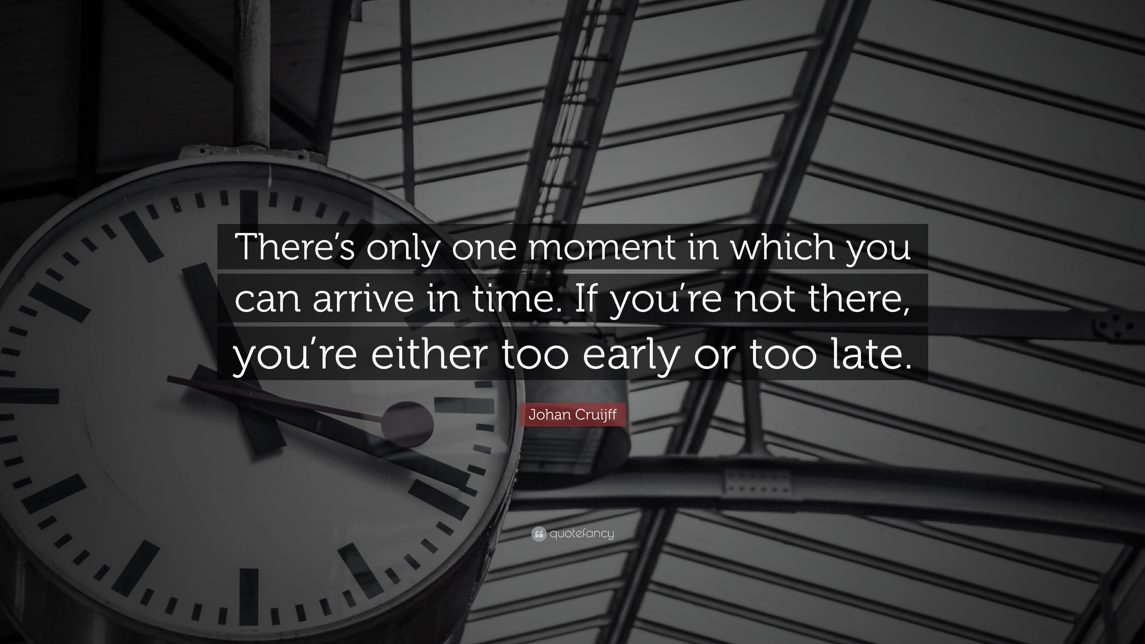 Johan Cruijff Quote Theres Only One Moment In Which You Can