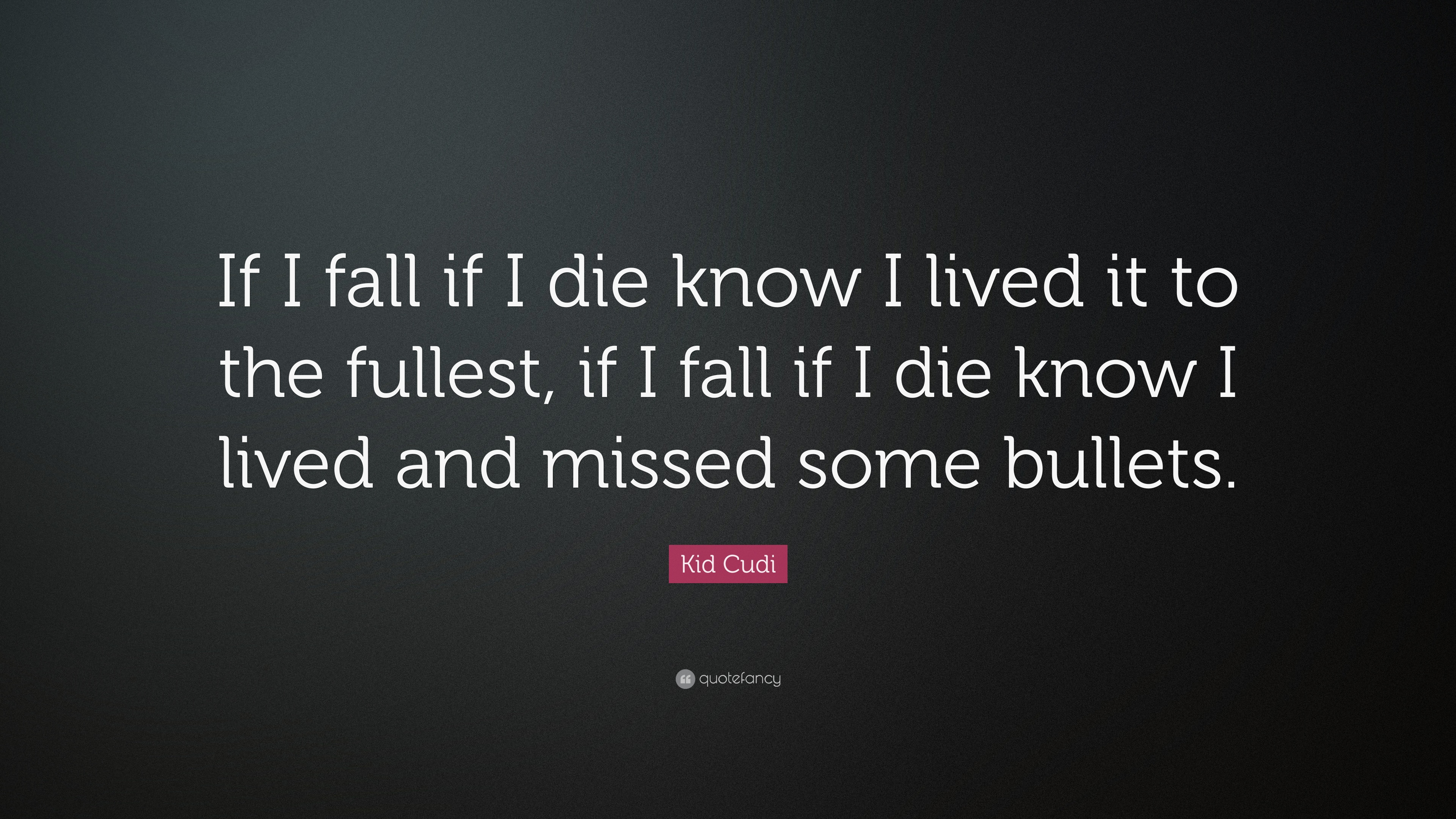 Kid Cudi Quote If I Fall Die Know Lived It To