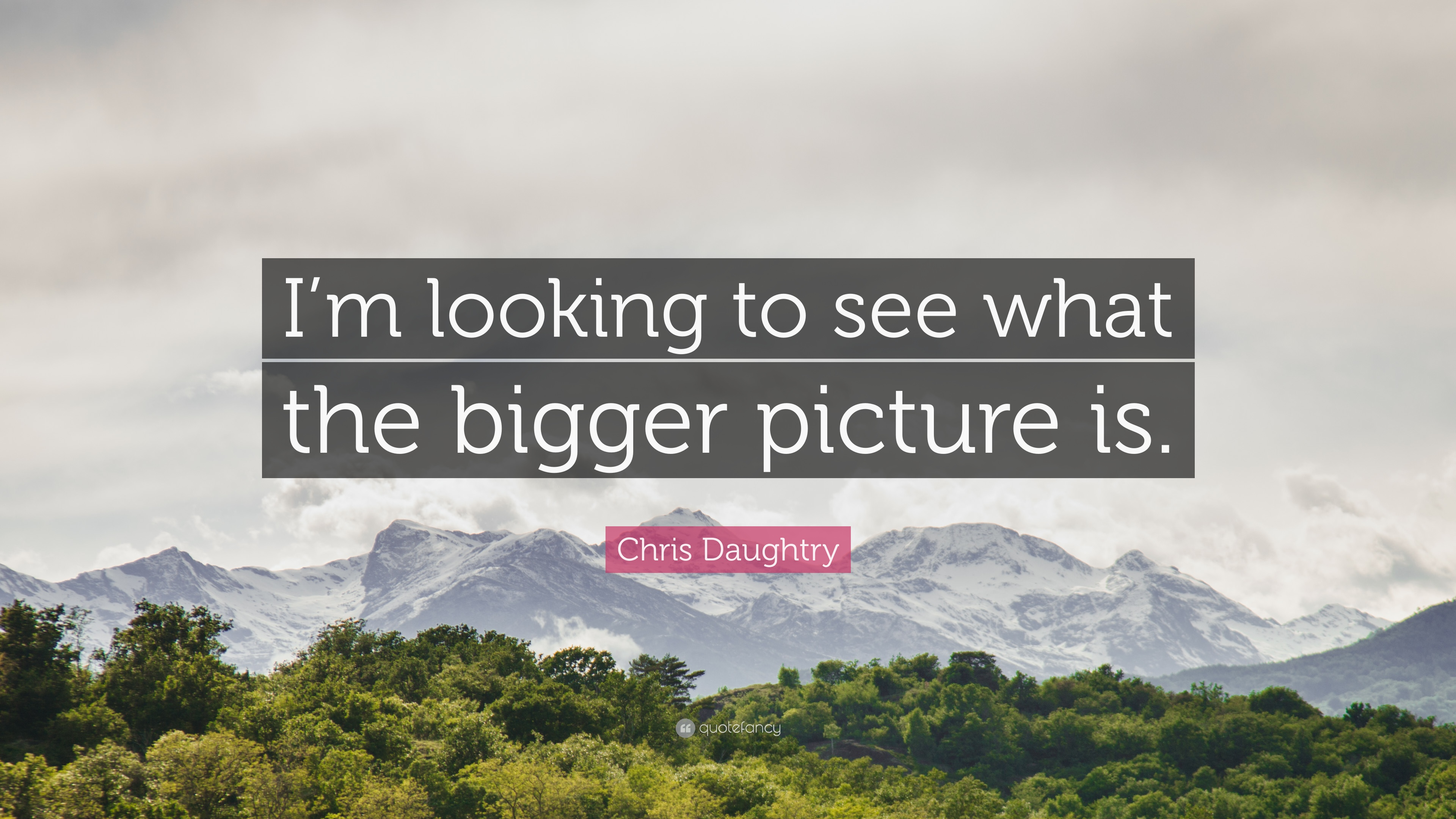 Chris Daughtry Quote Im Looking To See What The Bigger Picture Is