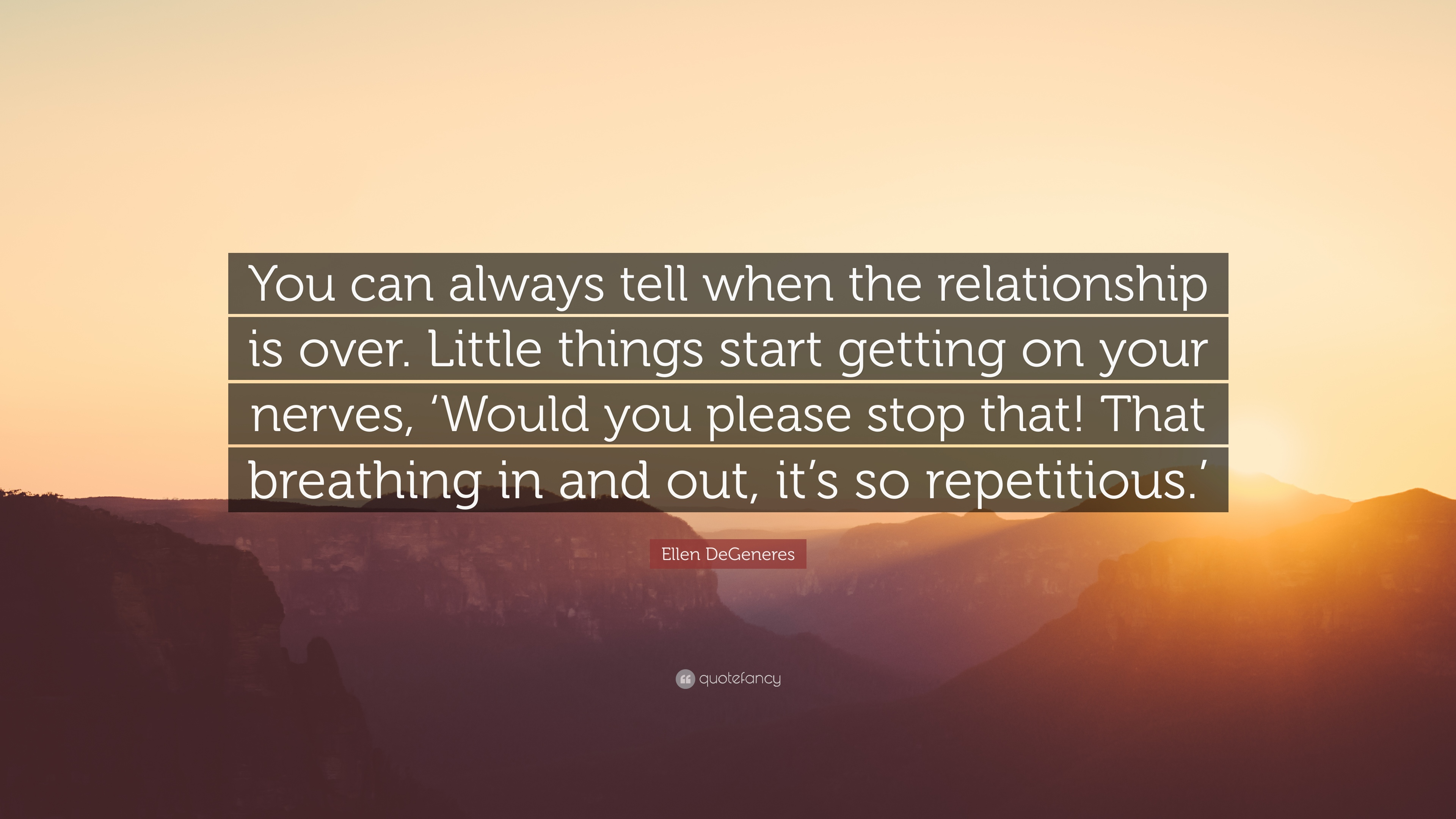 How to tell relationship is over