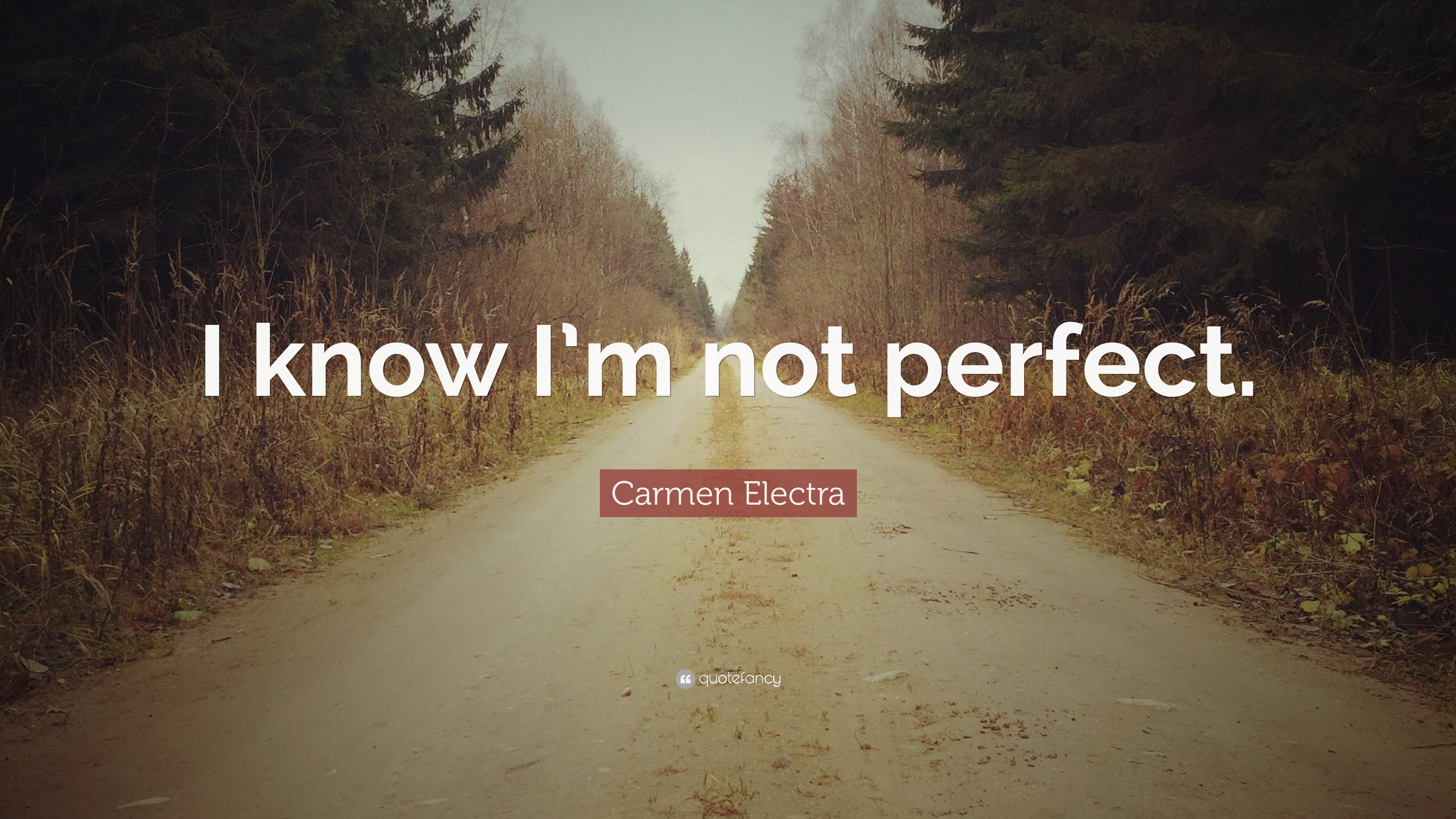 Carmen Electra Quote I Know Im Not Perfect 7 Wallpapers