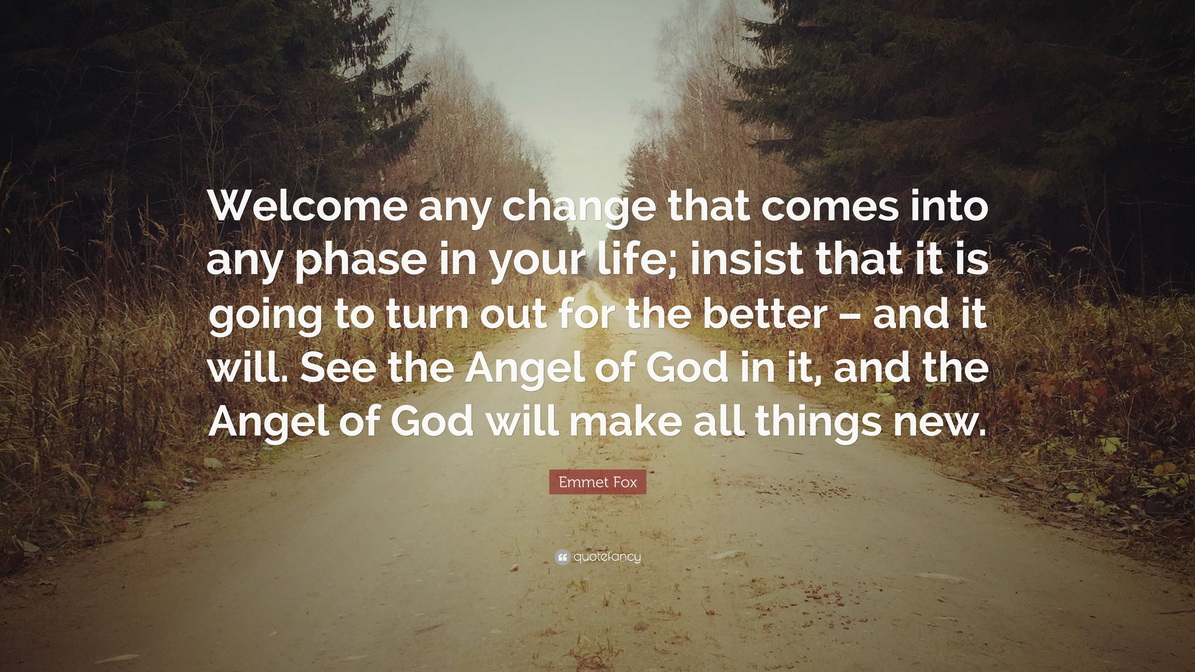 """Emmet Fox Quote: """"Welcome Any Change That Comes Into Any"""