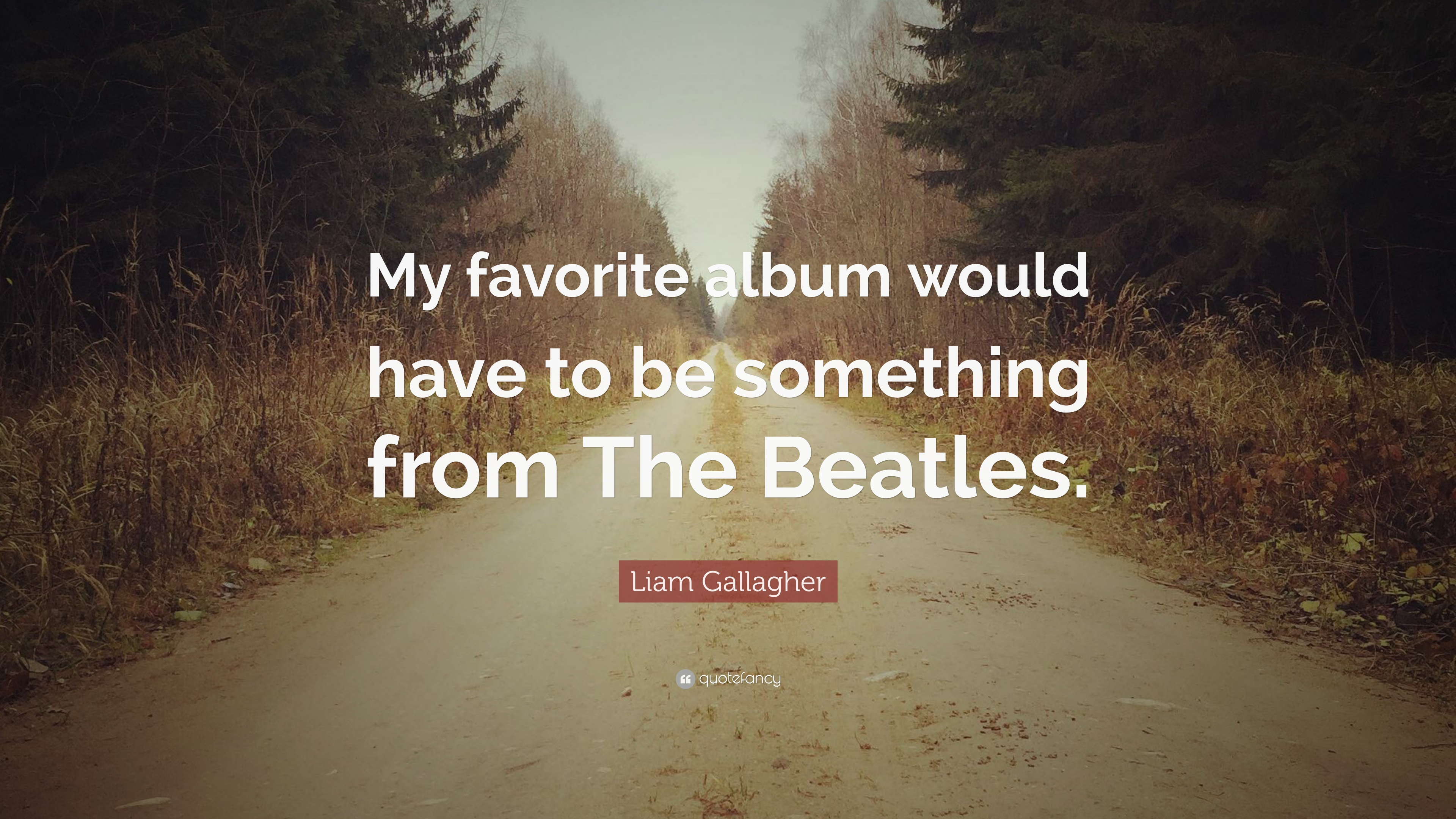 Liam Gallagher Quote My Favorite Album Would Have To Be Something