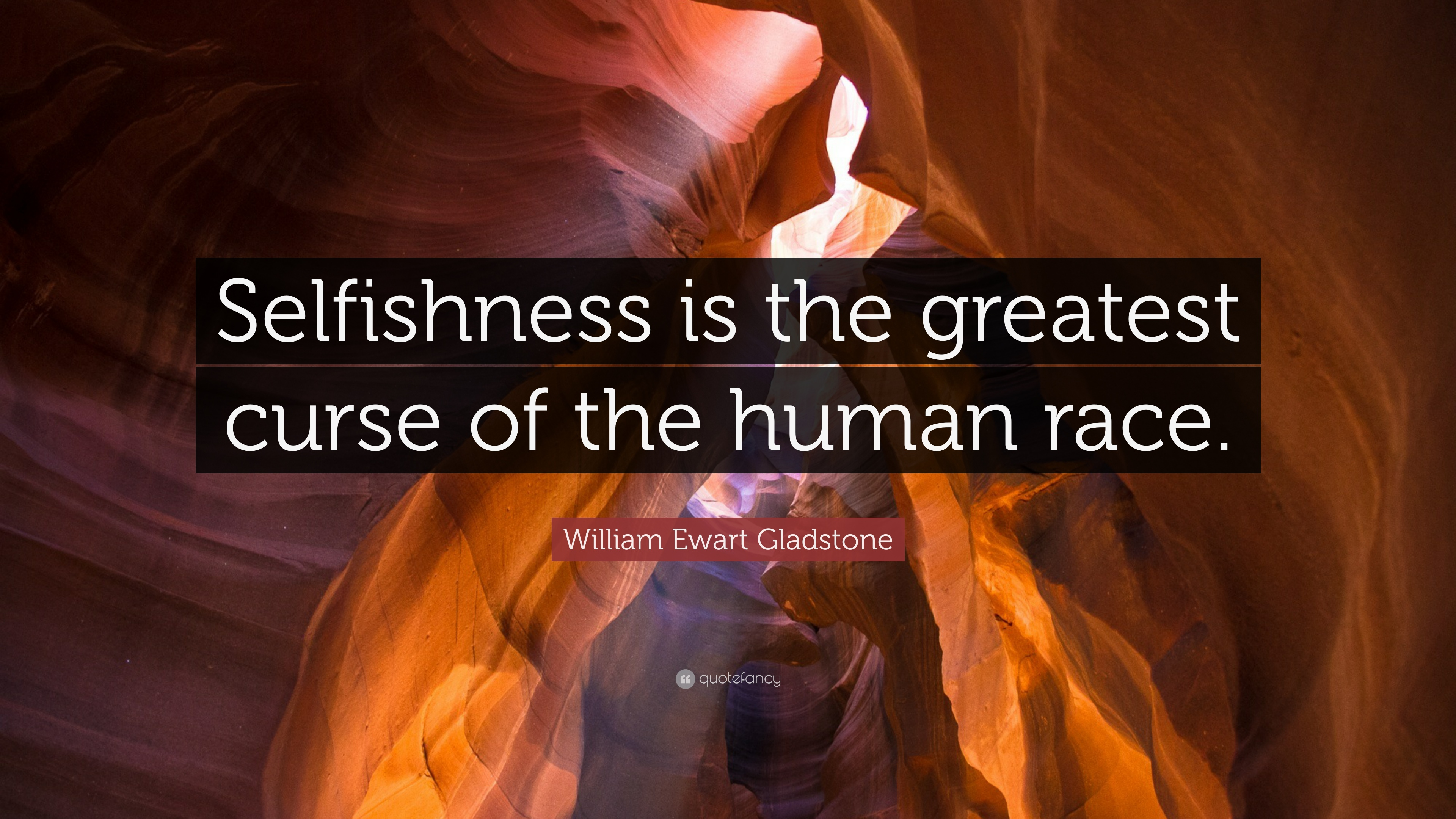 William ewart gladstone quote selfishness is the greatest curse william ewart gladstone quote selfishness is the greatest curse of the human race sciox Choice Image