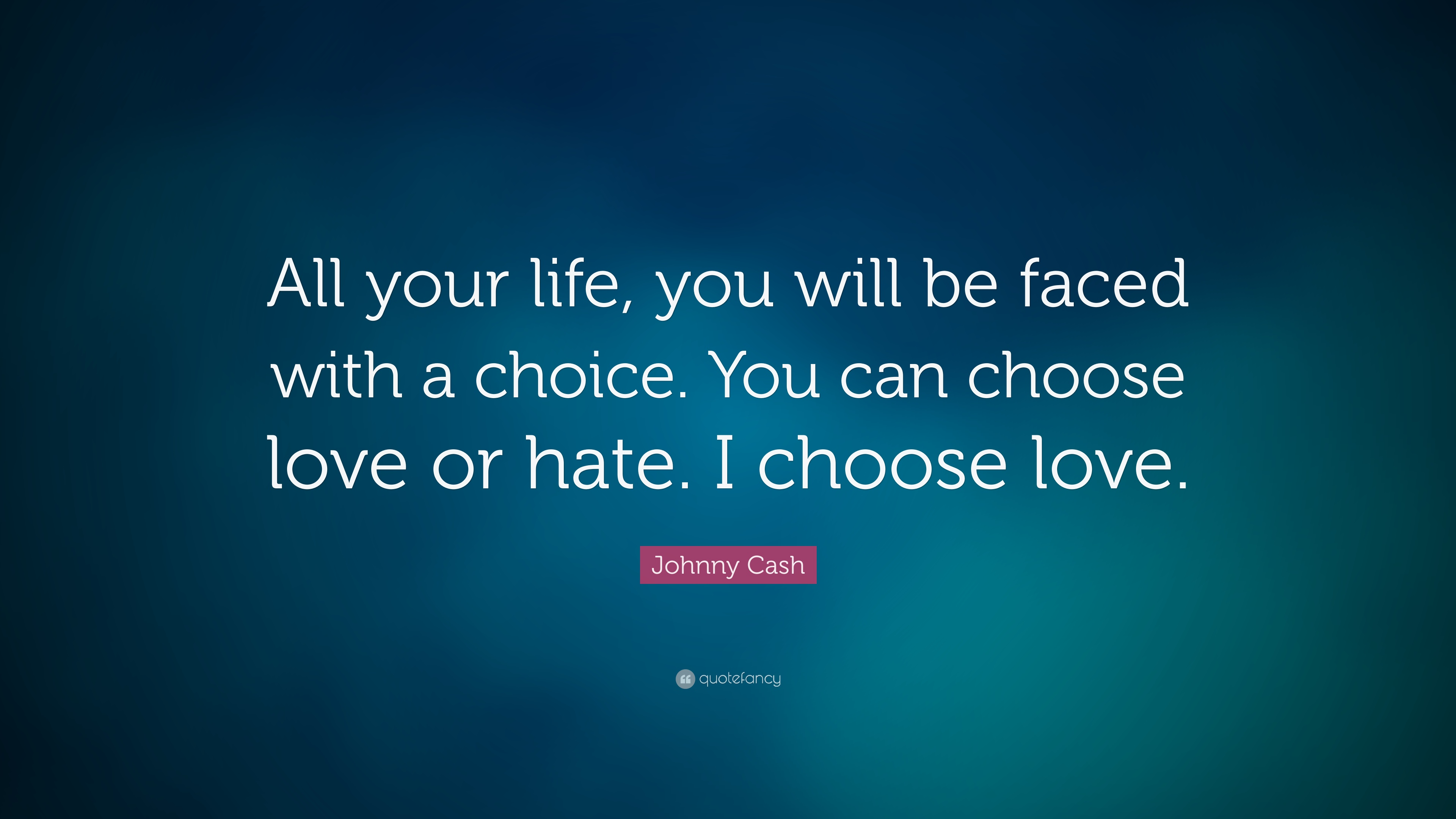 """Johnny Cash Quote: """"All Your Life, You Will Be Faced With"""